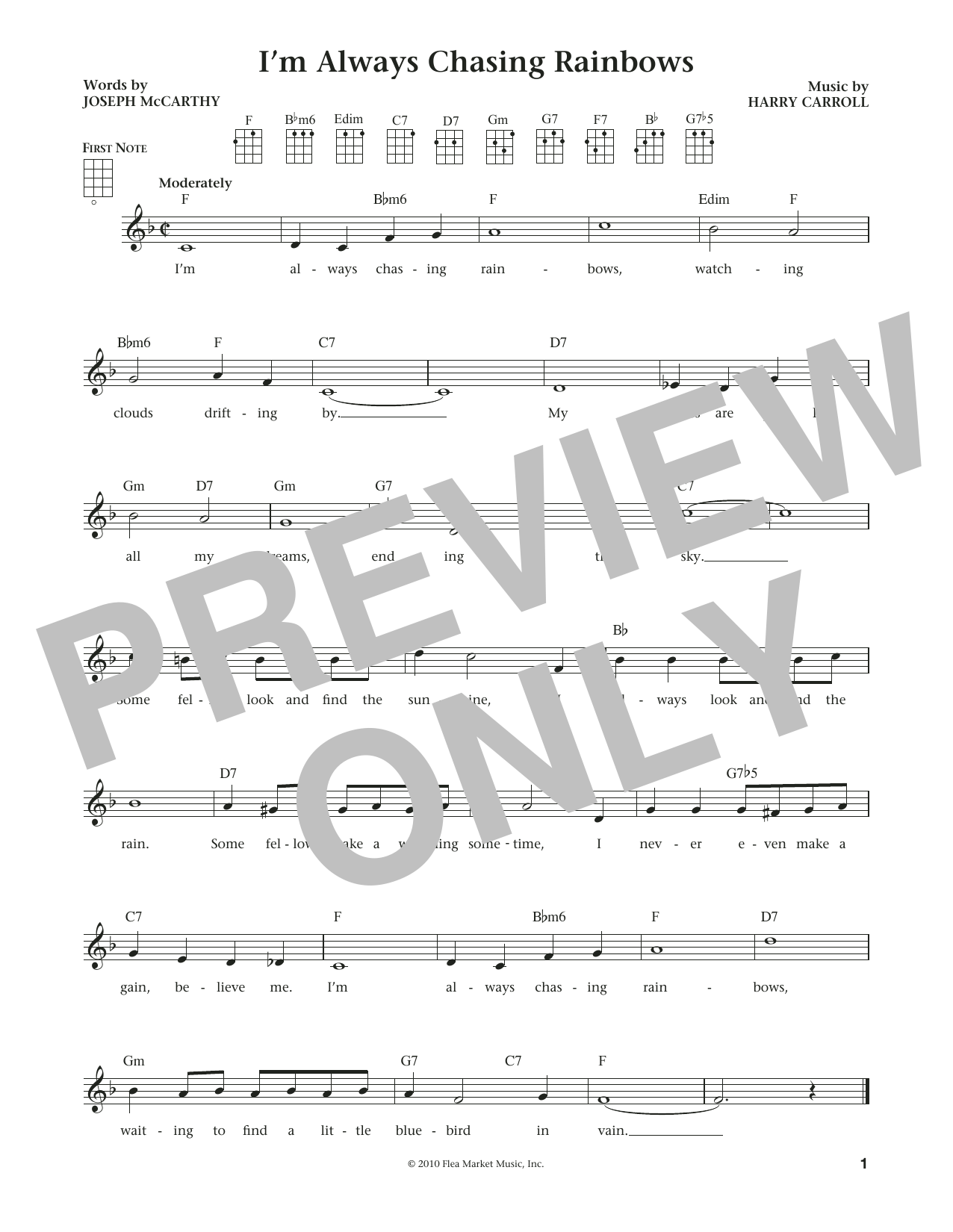 Sheet Music Digital Files To Print - Licensed Joseph McCarthy ...