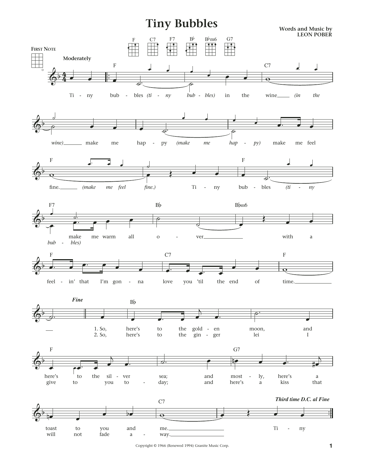 Sheet Music Digital Files To Print Licensed Leon Pober Digital