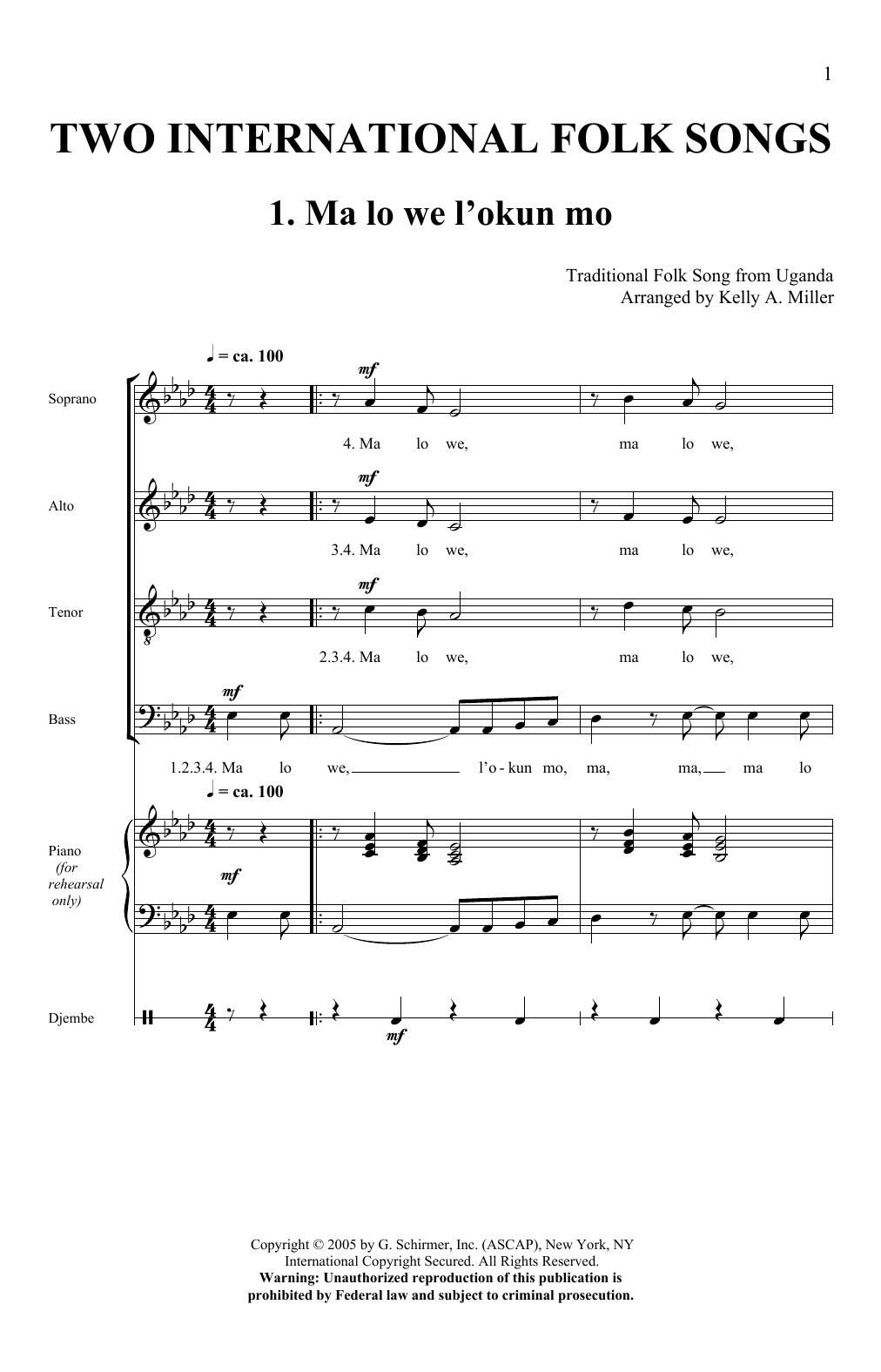 Two International Folk Songs