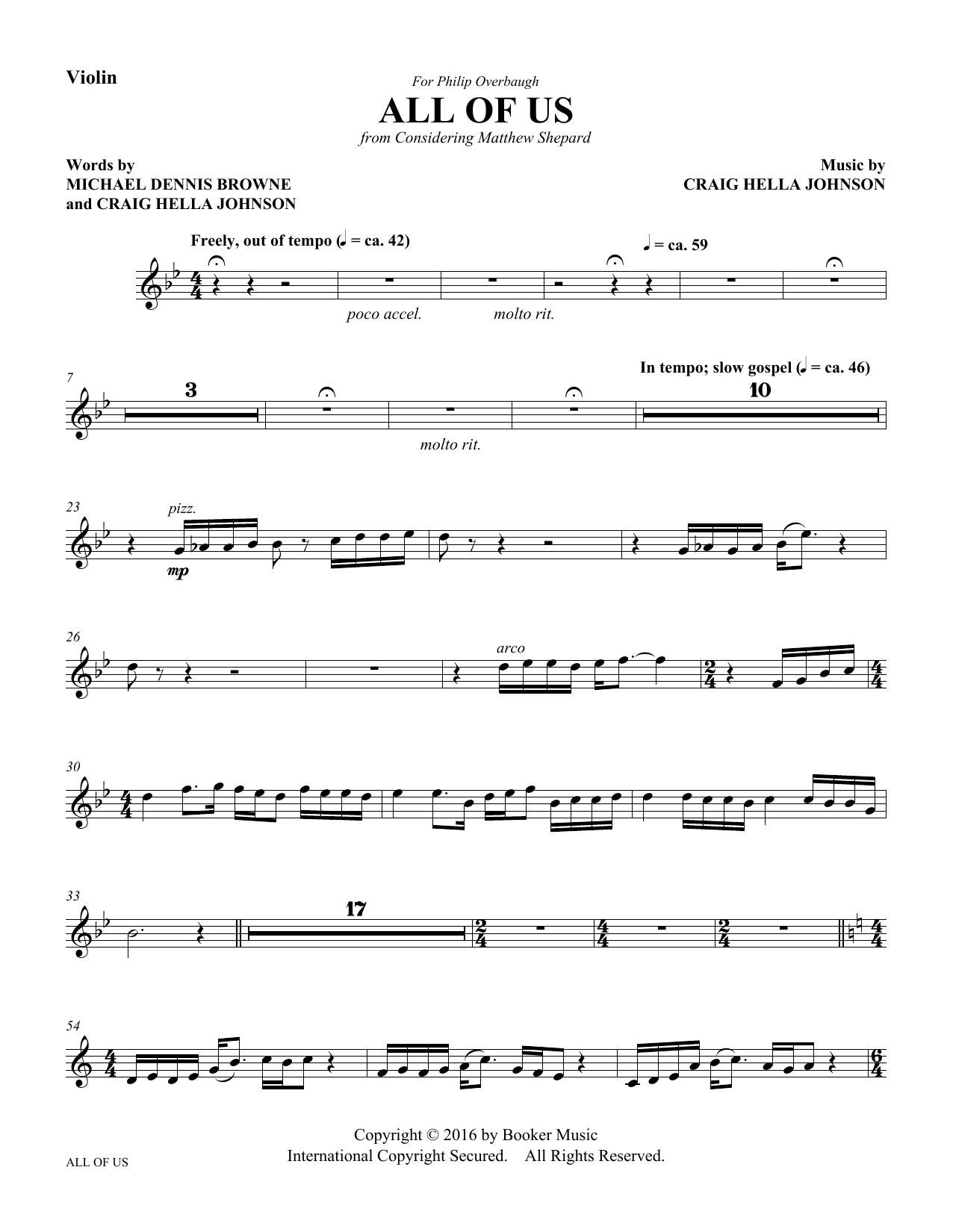 All of Us - Violin