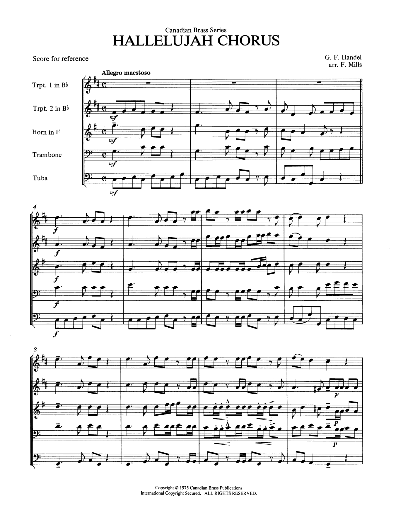 Hallelujah Chorus - Full Score