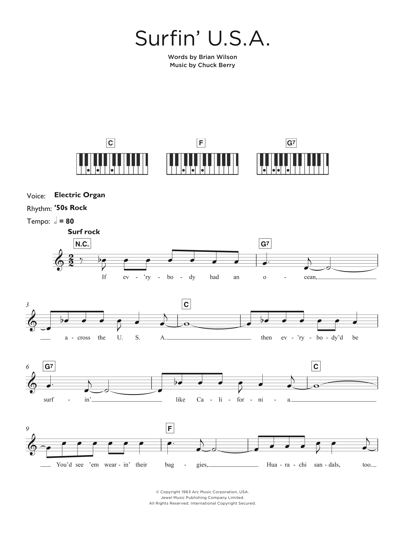 The beach boys surfin usa sheet music at stantons sheet music the beach boys surfin usa hexwebz Images