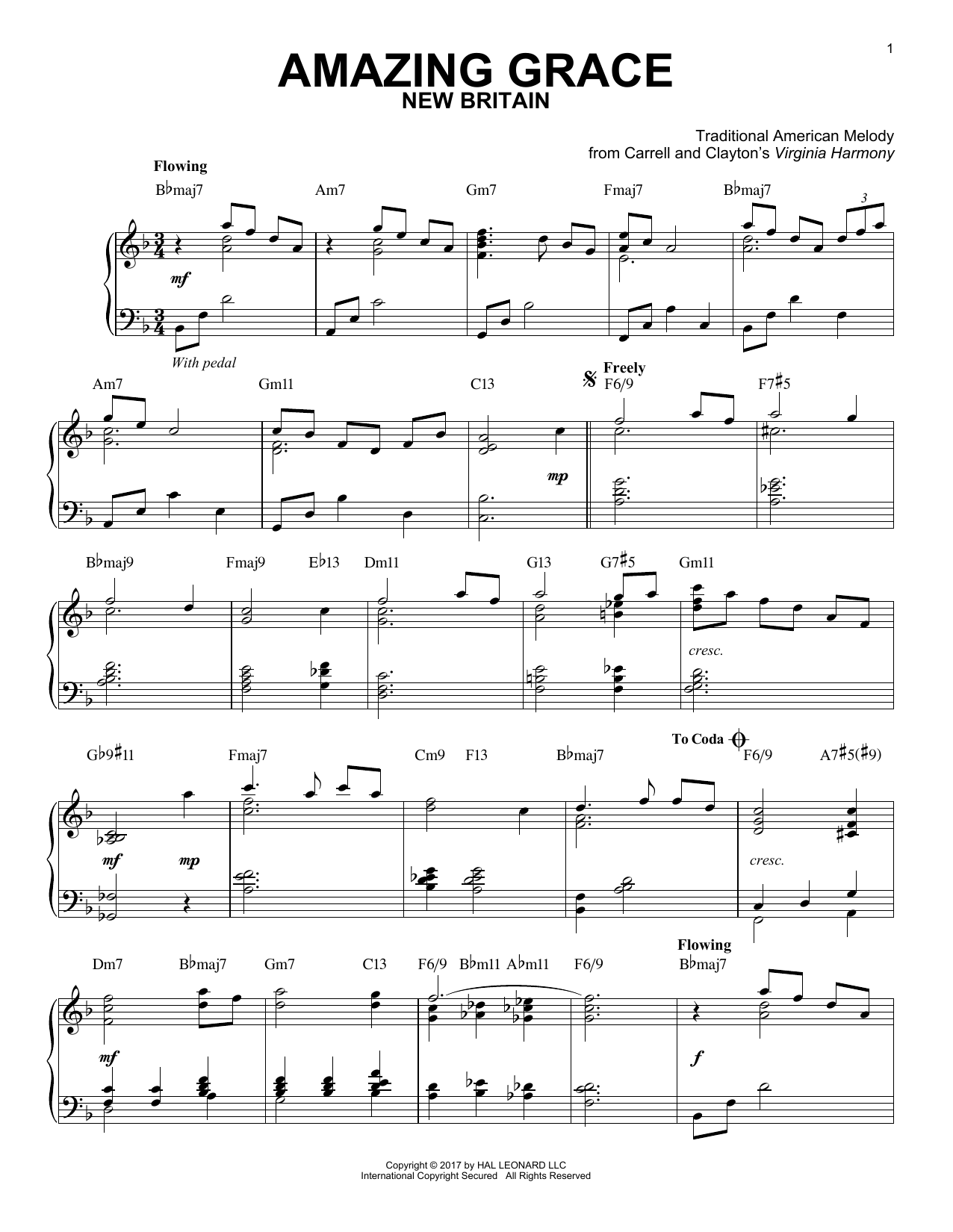 photograph regarding Free Printable Piano Sheet Music for Amazing Grace named Classic American Melody: Unbelievable Grace