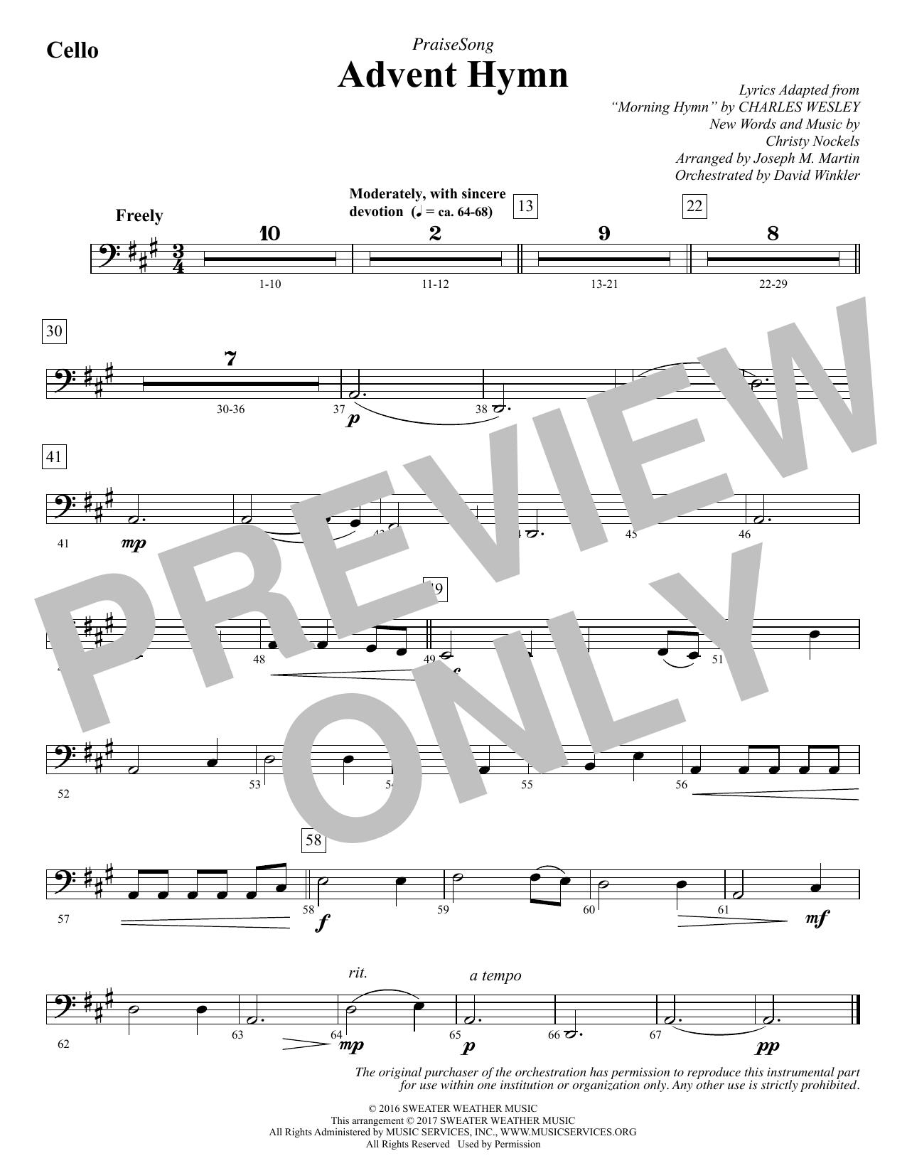 Advent Hymn - Cello
