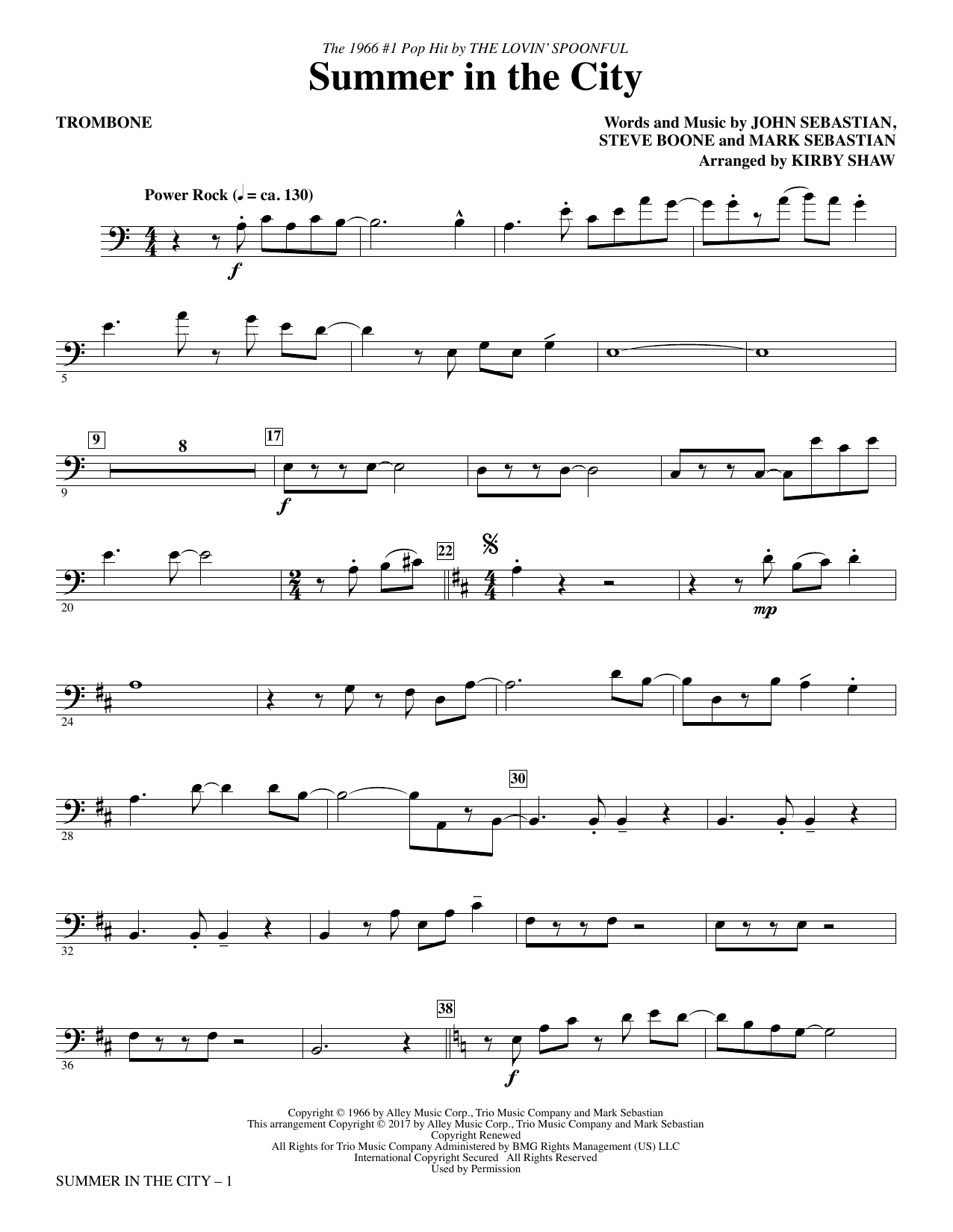 The Lovin' Spoonful - Summer in the City - Trombone