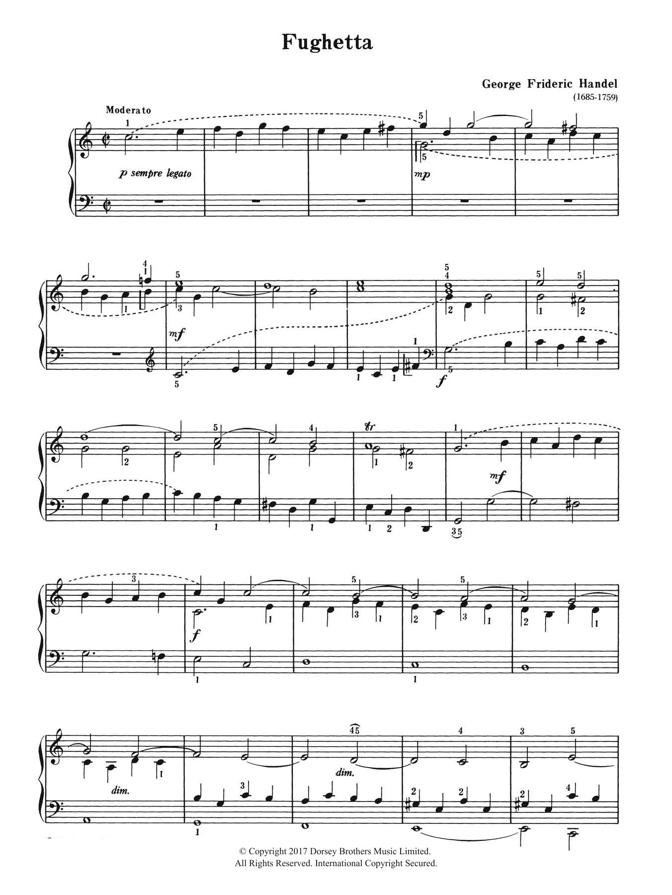 George Frideric Handel - Fughetta