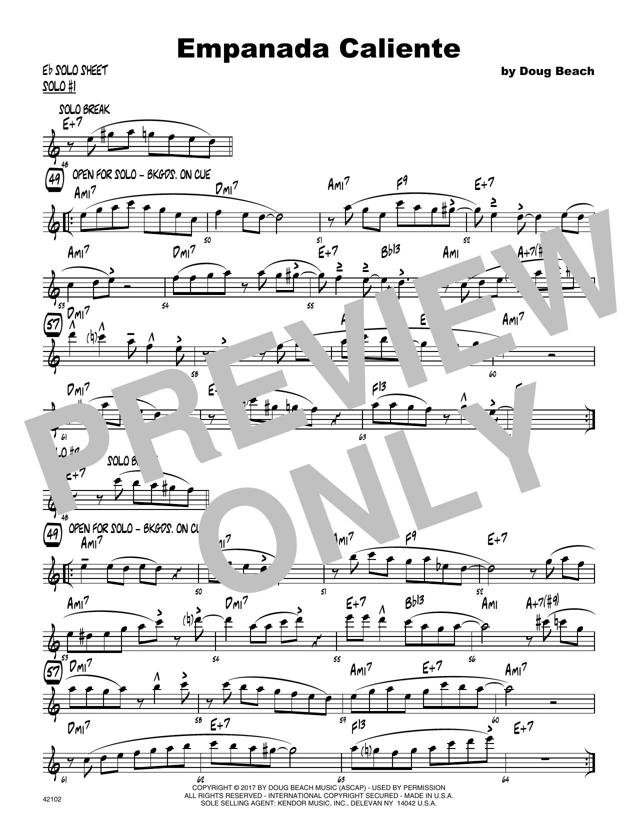 Empanada Caliente - Solo Sheet - Alto Sax