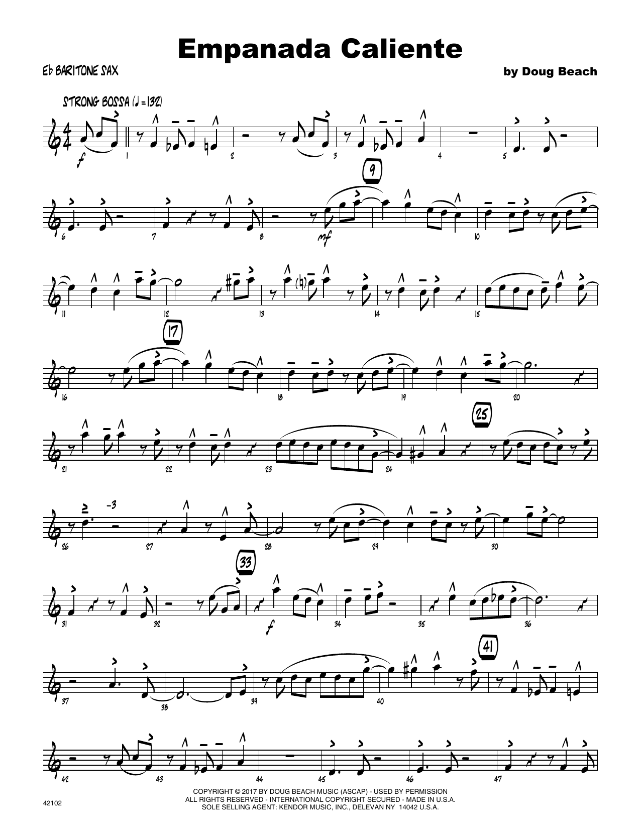 Empanada Caliente - Eb Baritone Saxophone