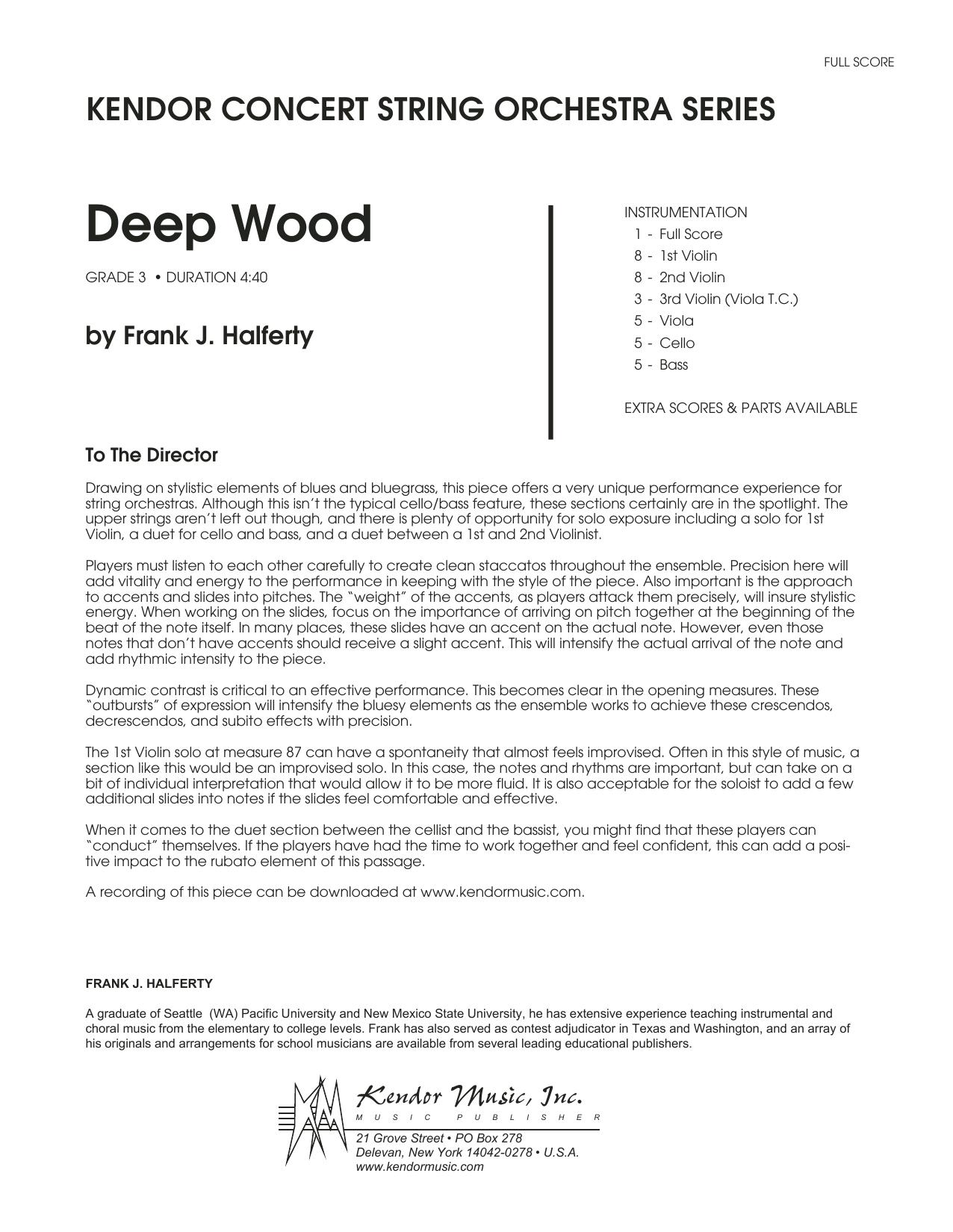 Deep Wood - Full Score