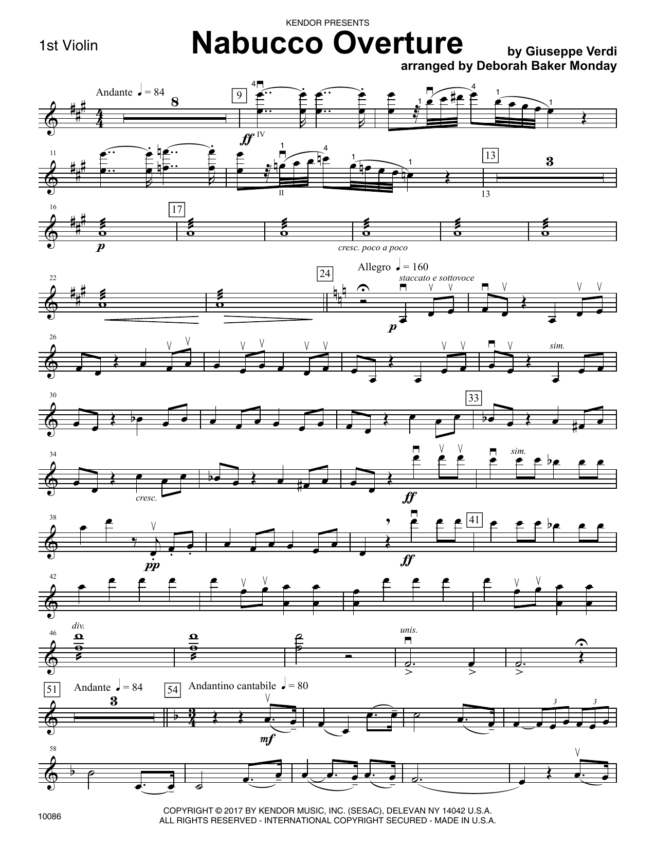 Nabucco Overture - 1st Violin