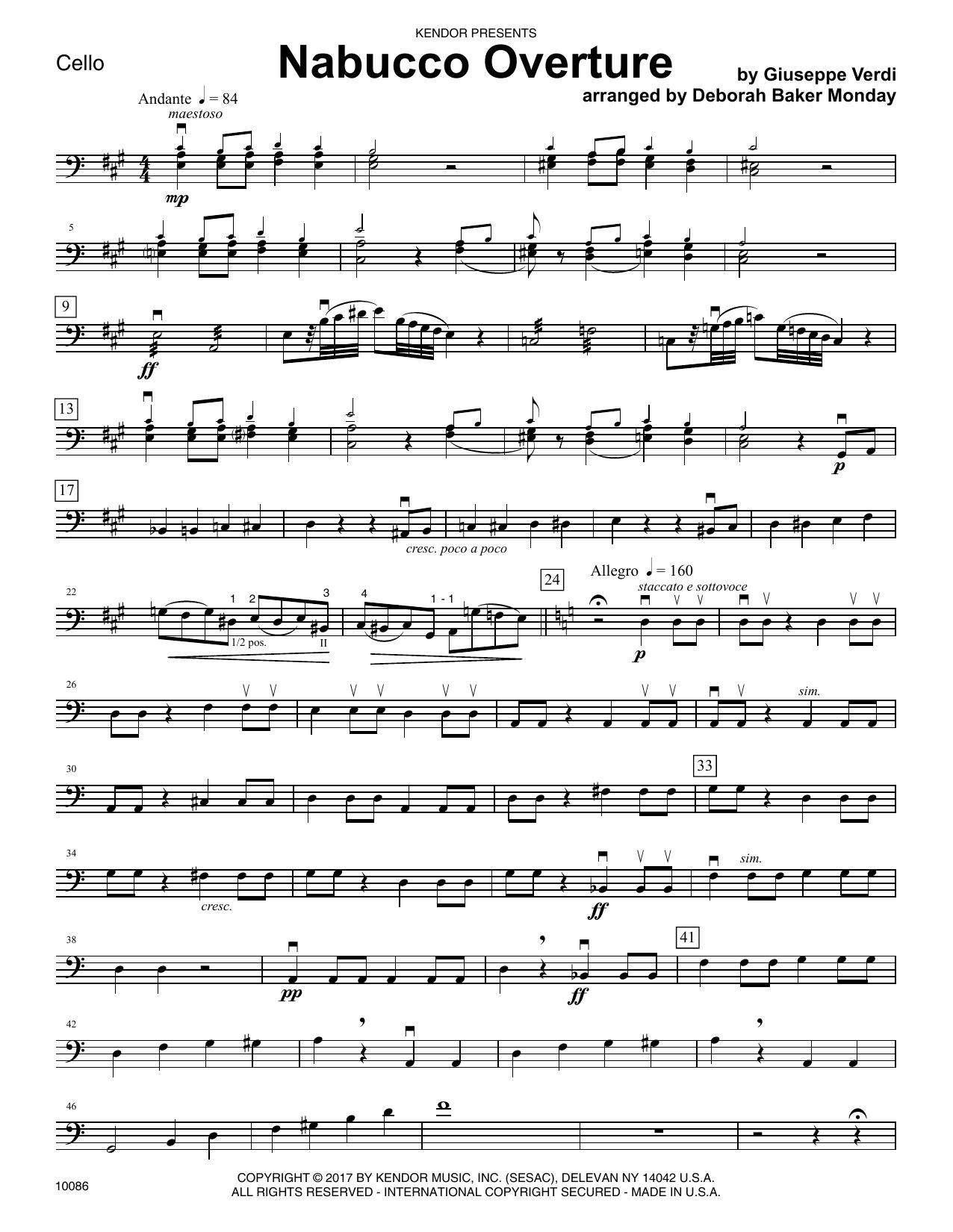 Nabucco Overture - Cello