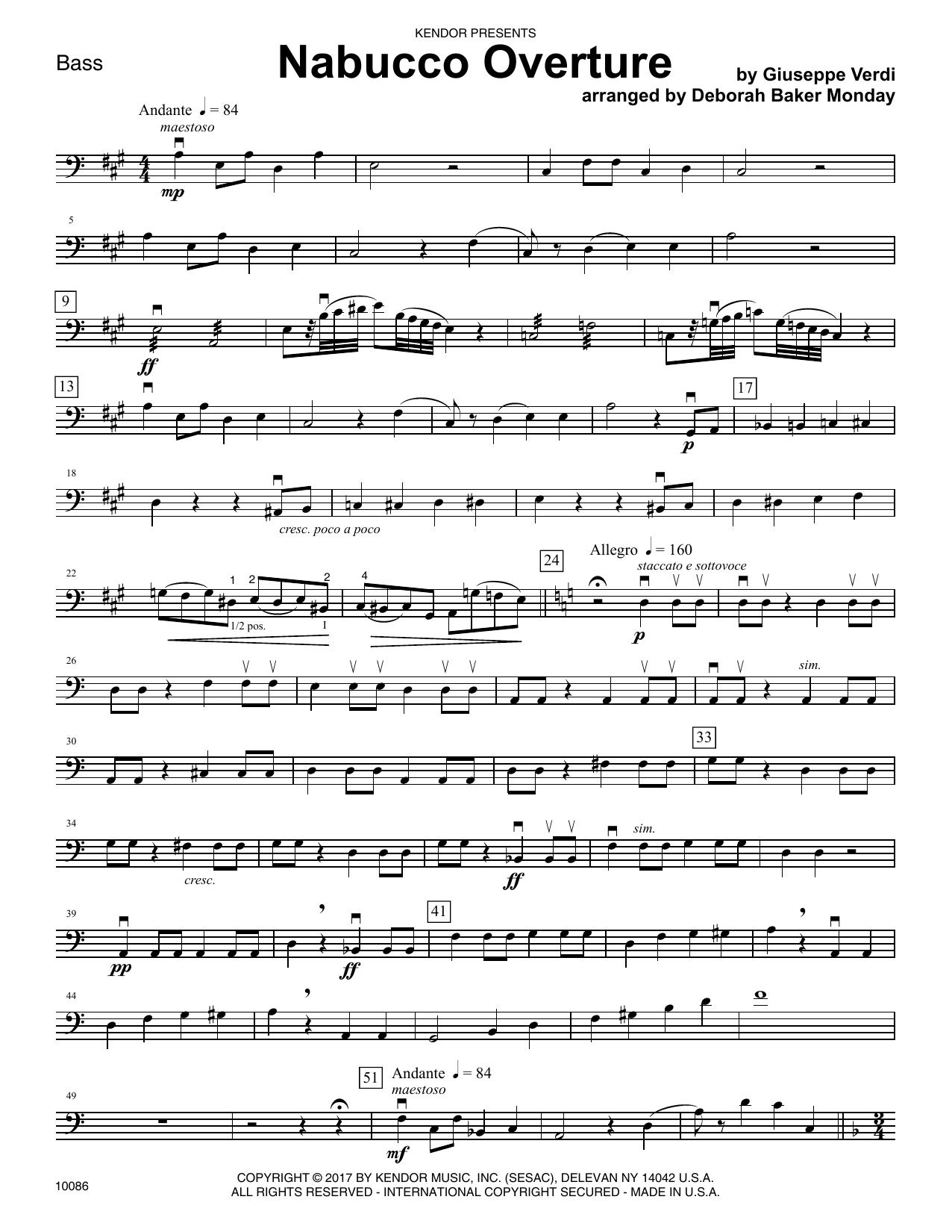 Nabucco Overture - Bass
