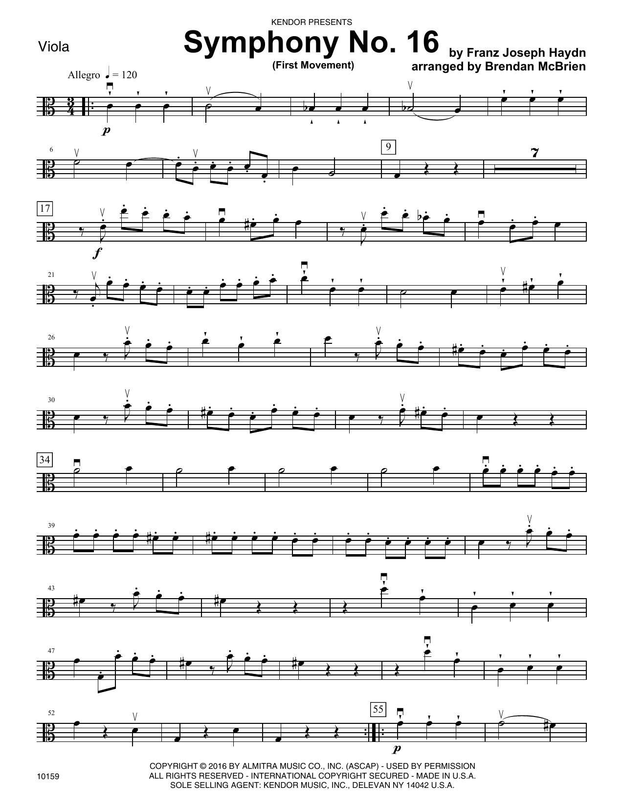 Symphony No. 16 (First Movement) - Viola