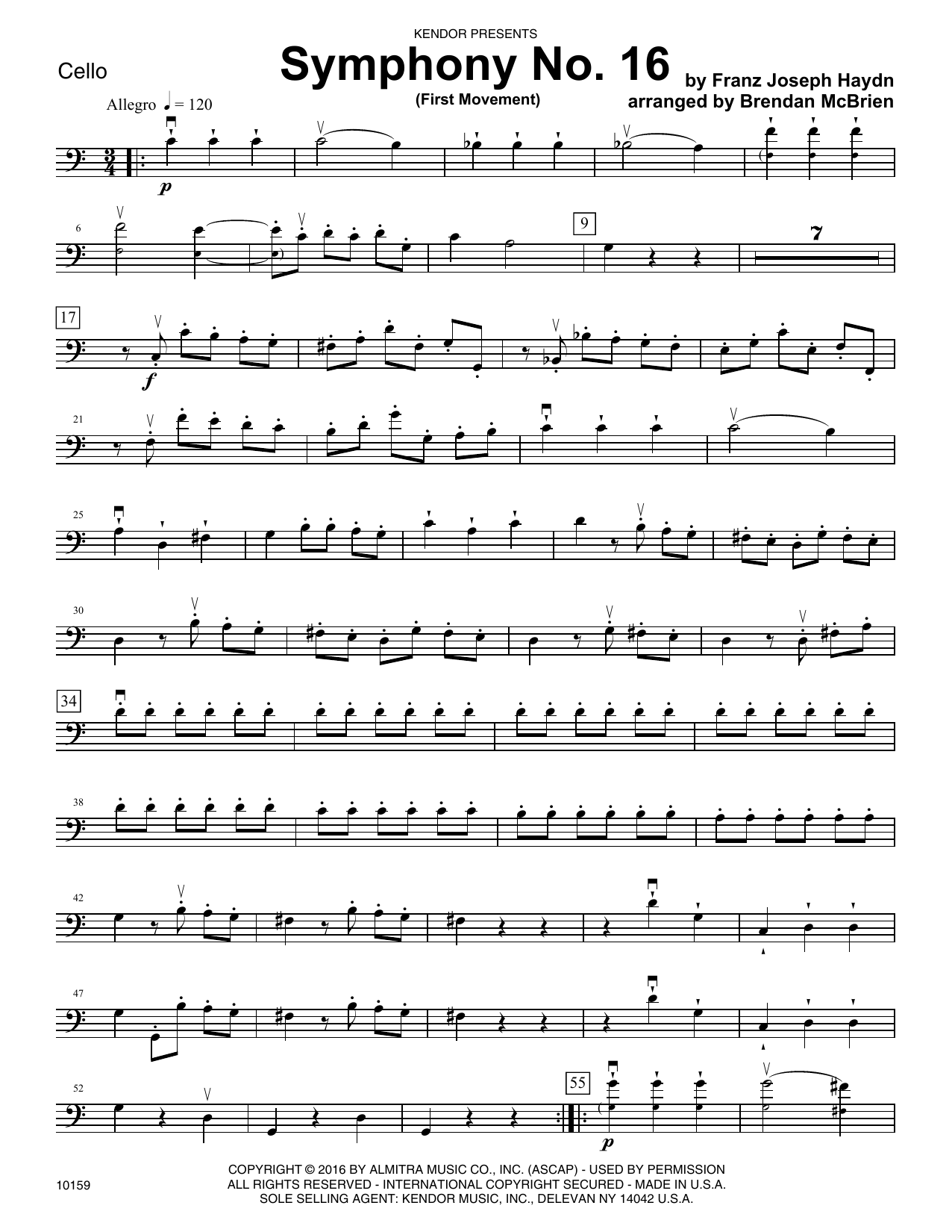Symphony No. 16 (First Movement) - Cello