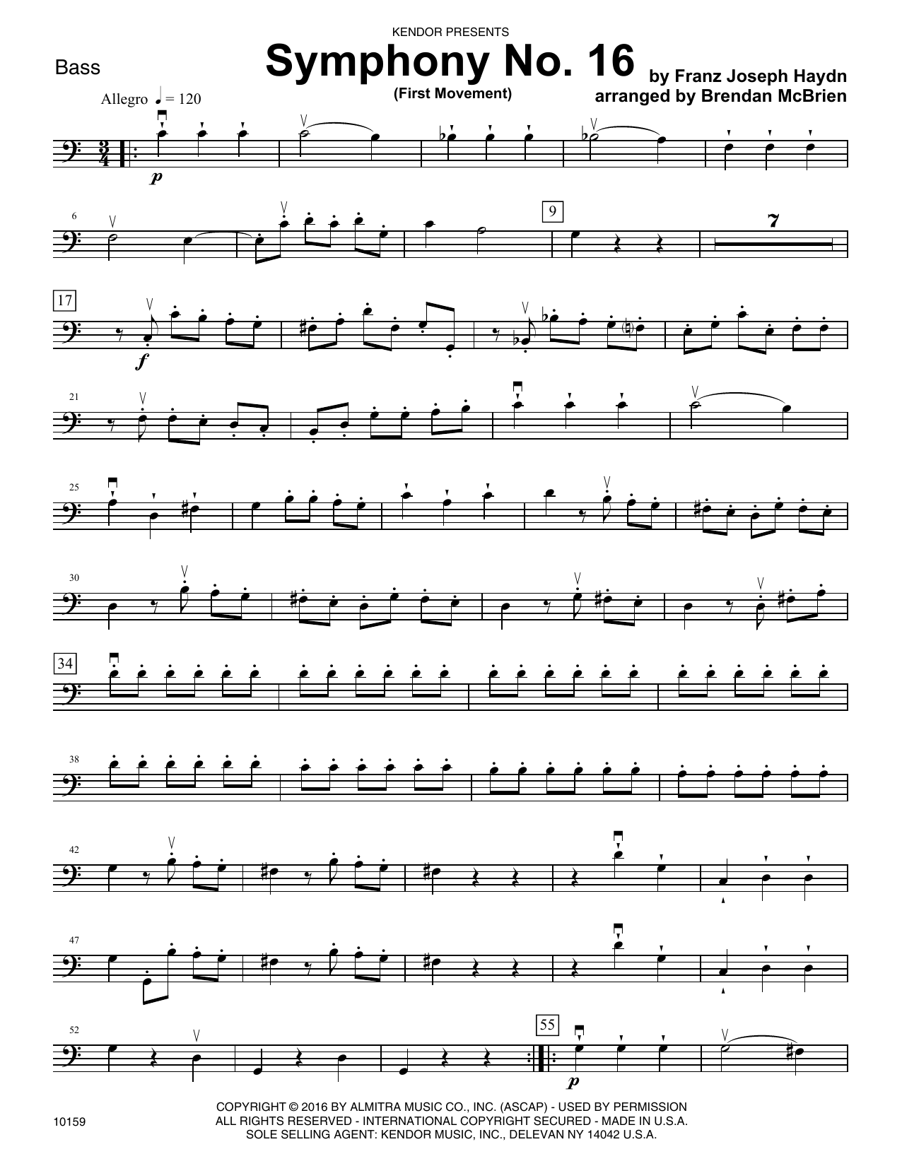 Symphony No. 16 (First Movement) - Bass