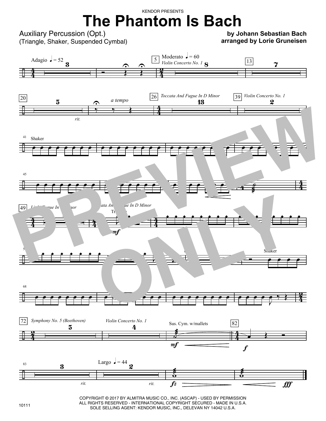 The Phantom Is Bach - Percussion
