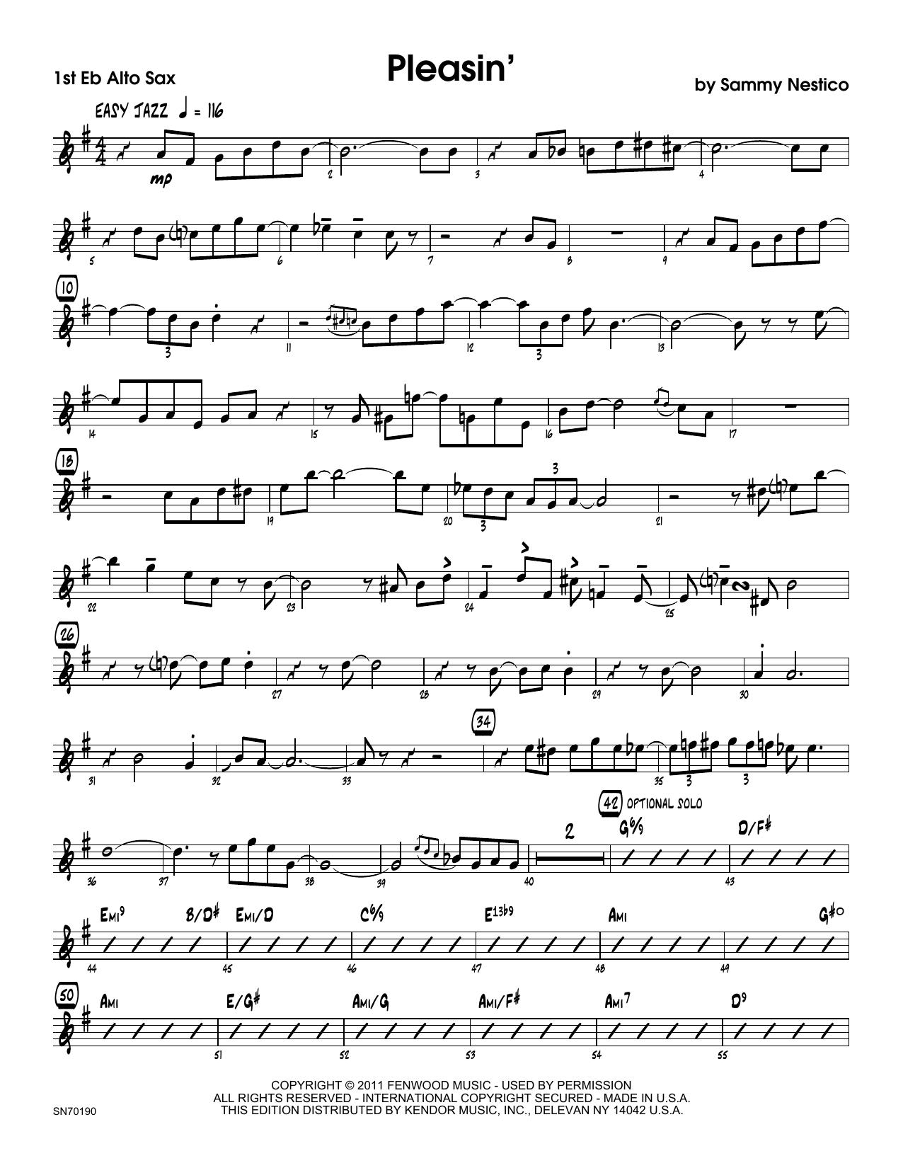 Pleasin' - 1st Eb Alto Saxophone