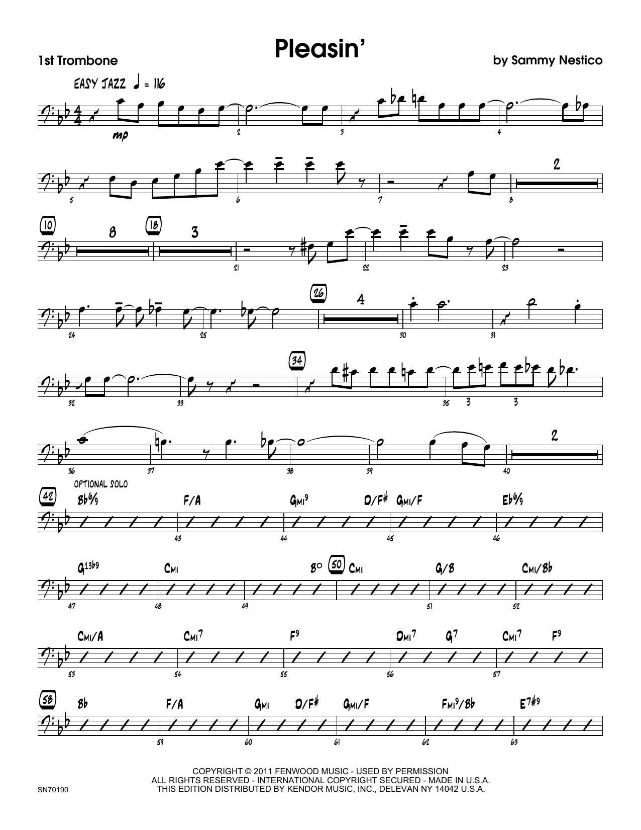 Pleasin' - 1st Trombone