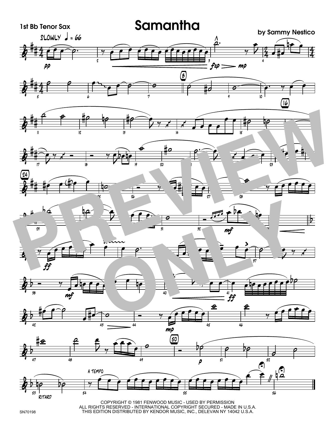 Samantha - 1st Tenor Saxophone