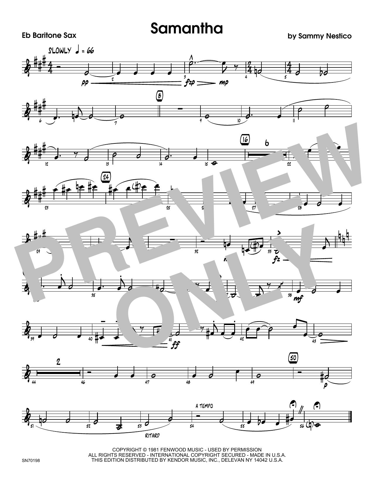Samantha - Eb Baritone Saxophone