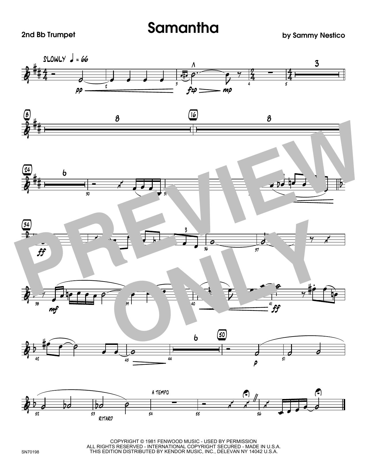 Samantha - 1st Bb Trumpet