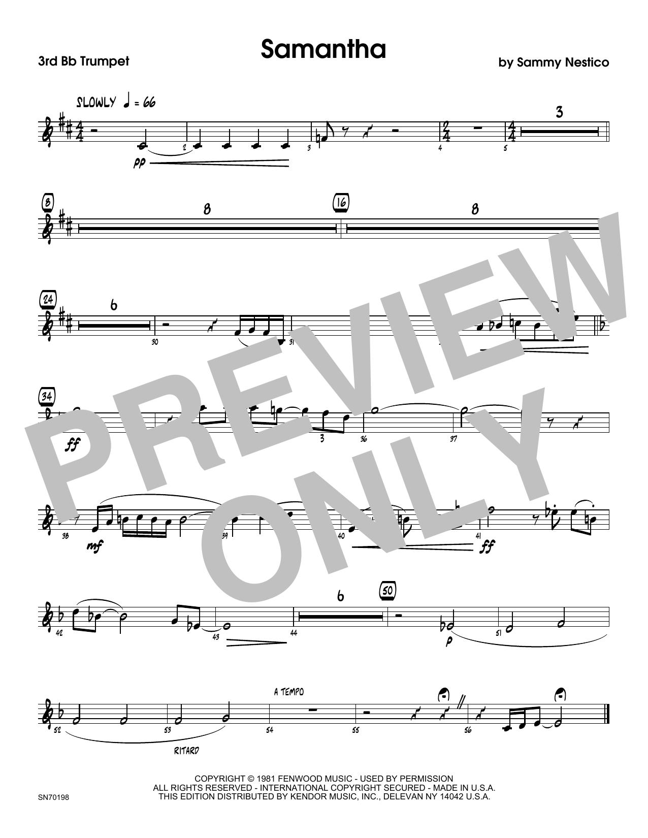 Samantha - 2nd Bb Trumpet