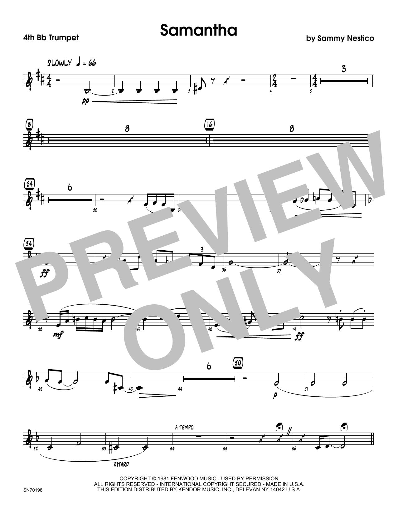 Samantha - 3rd Bb Trumpet