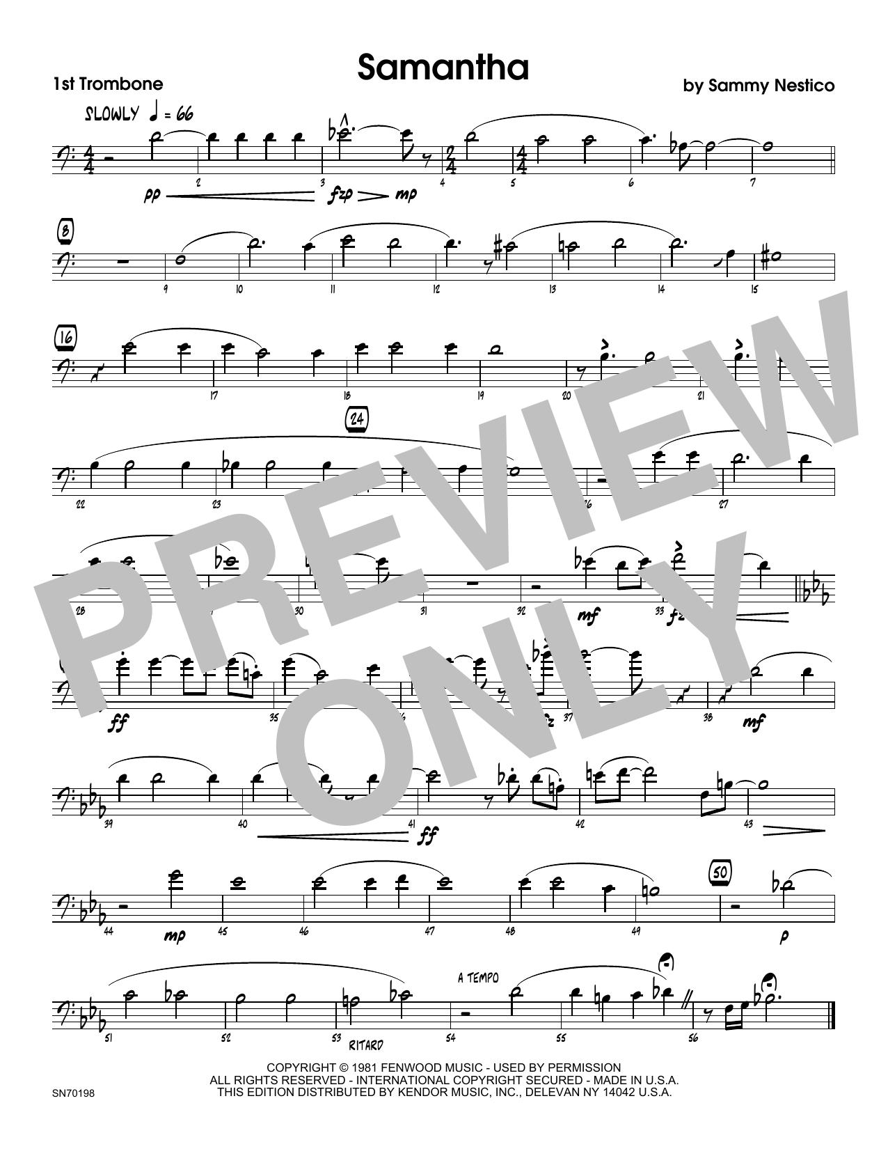 Samantha - 1st Trombone