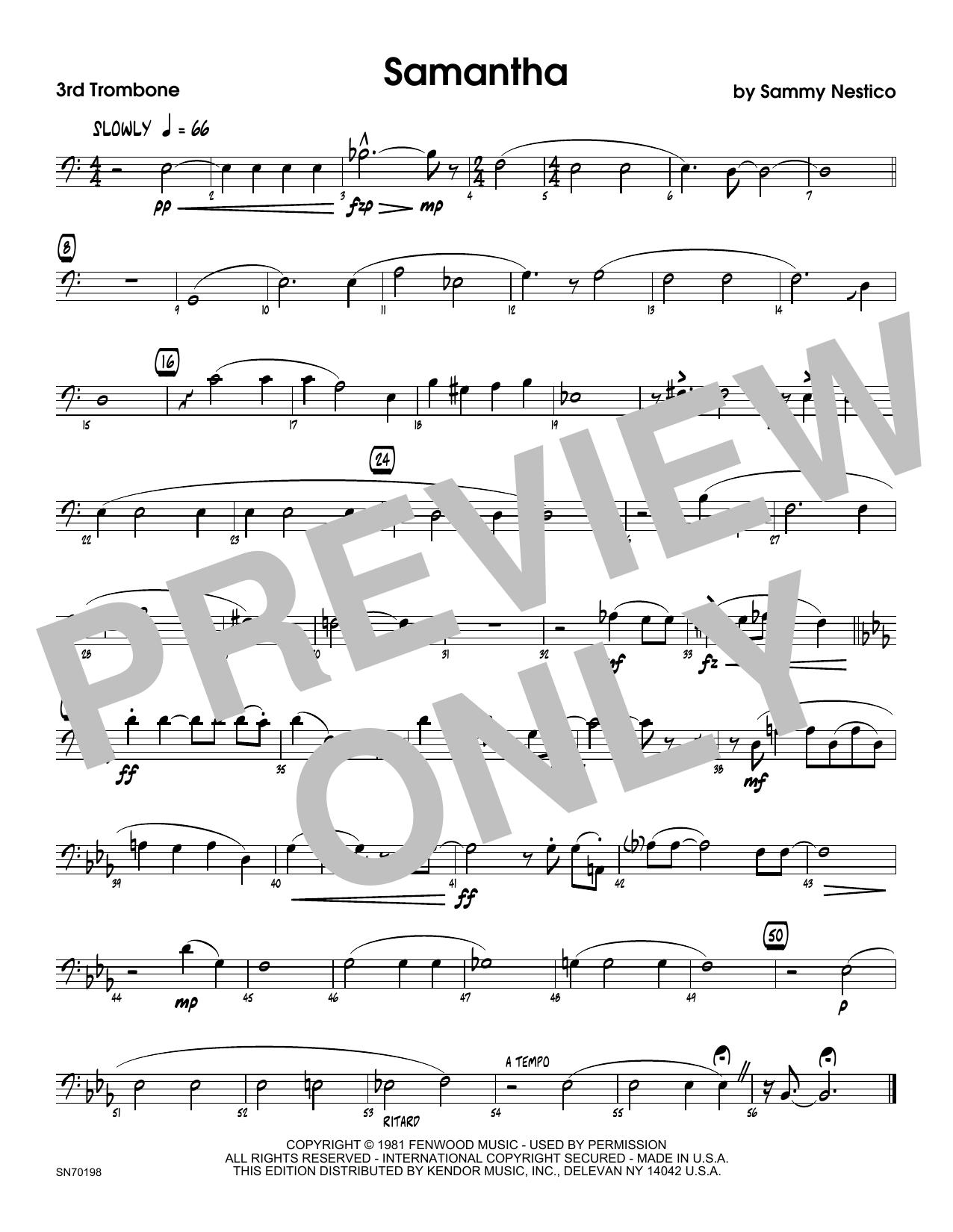 Samantha - 3rd Trombone