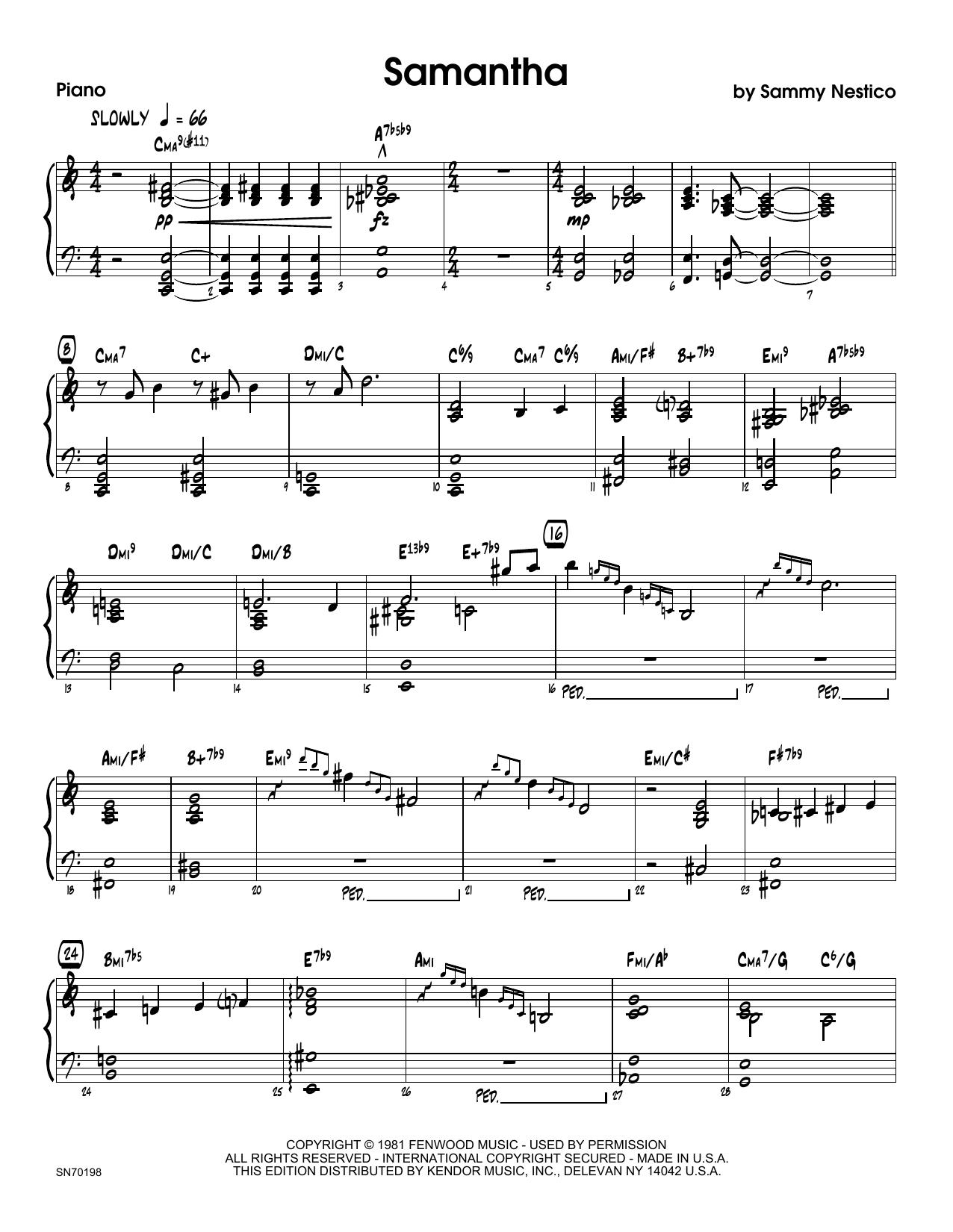 Samantha - Piano