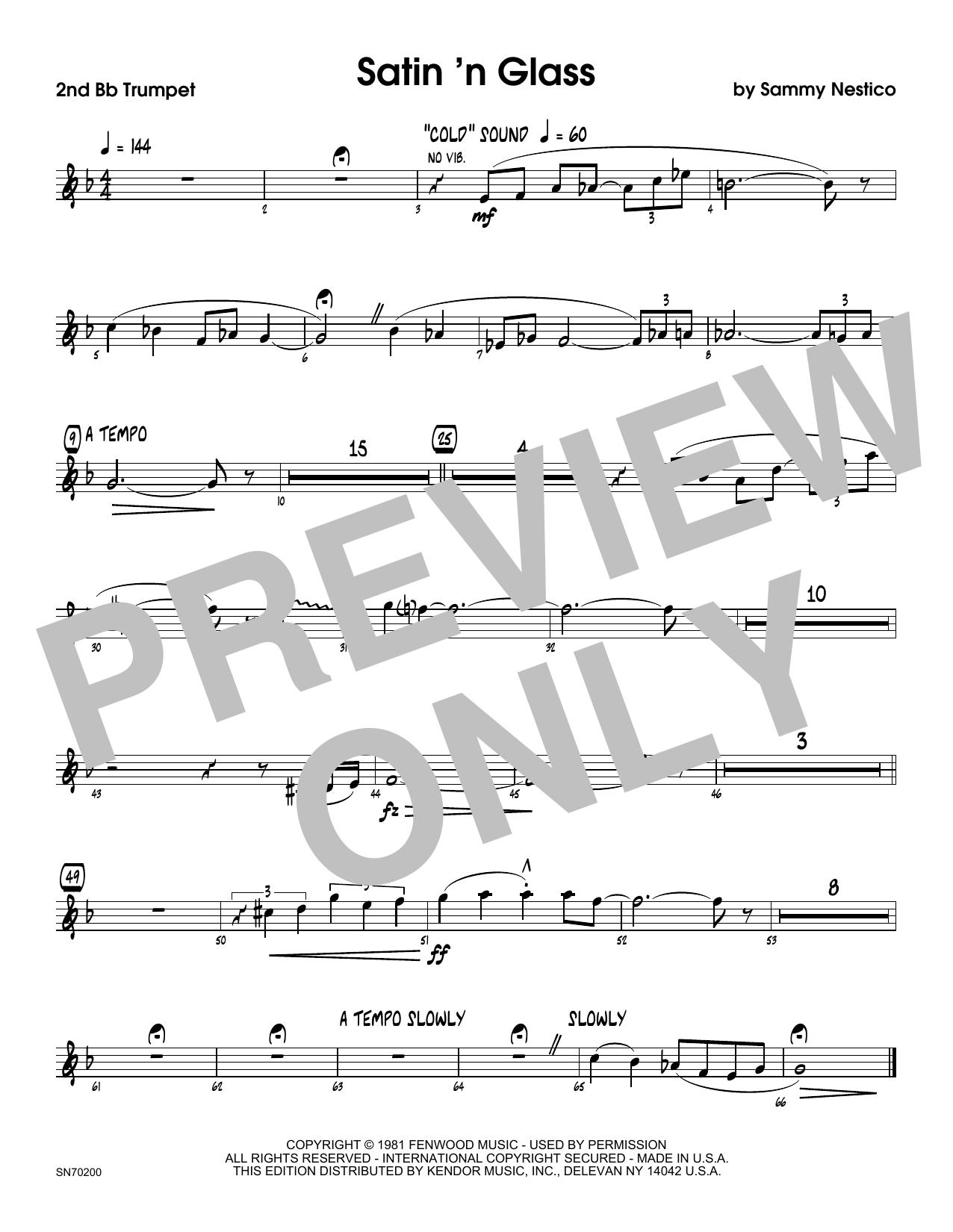 Satin 'n Glass - 2nd Bb Trumpet