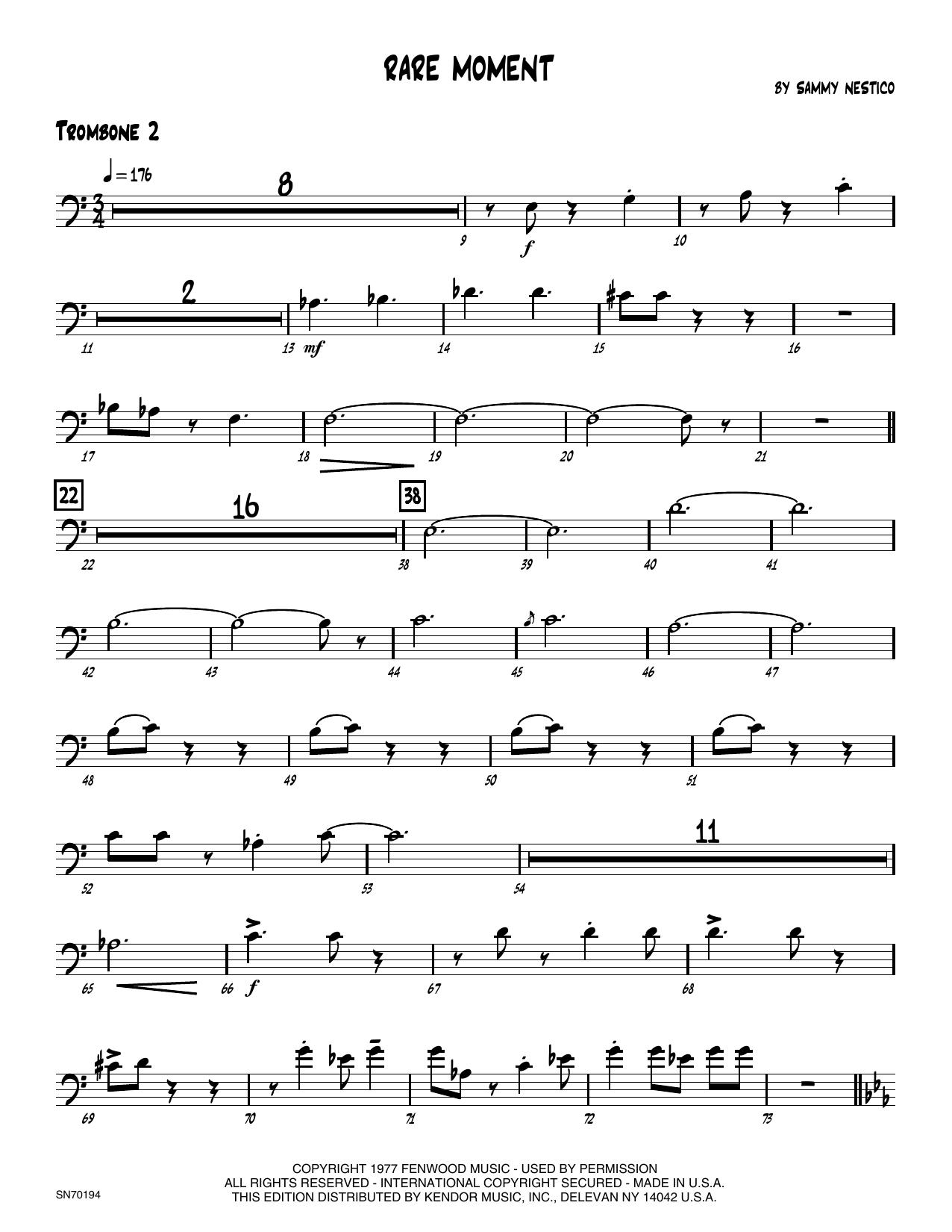 Rare Moment - 2nd Trombone
