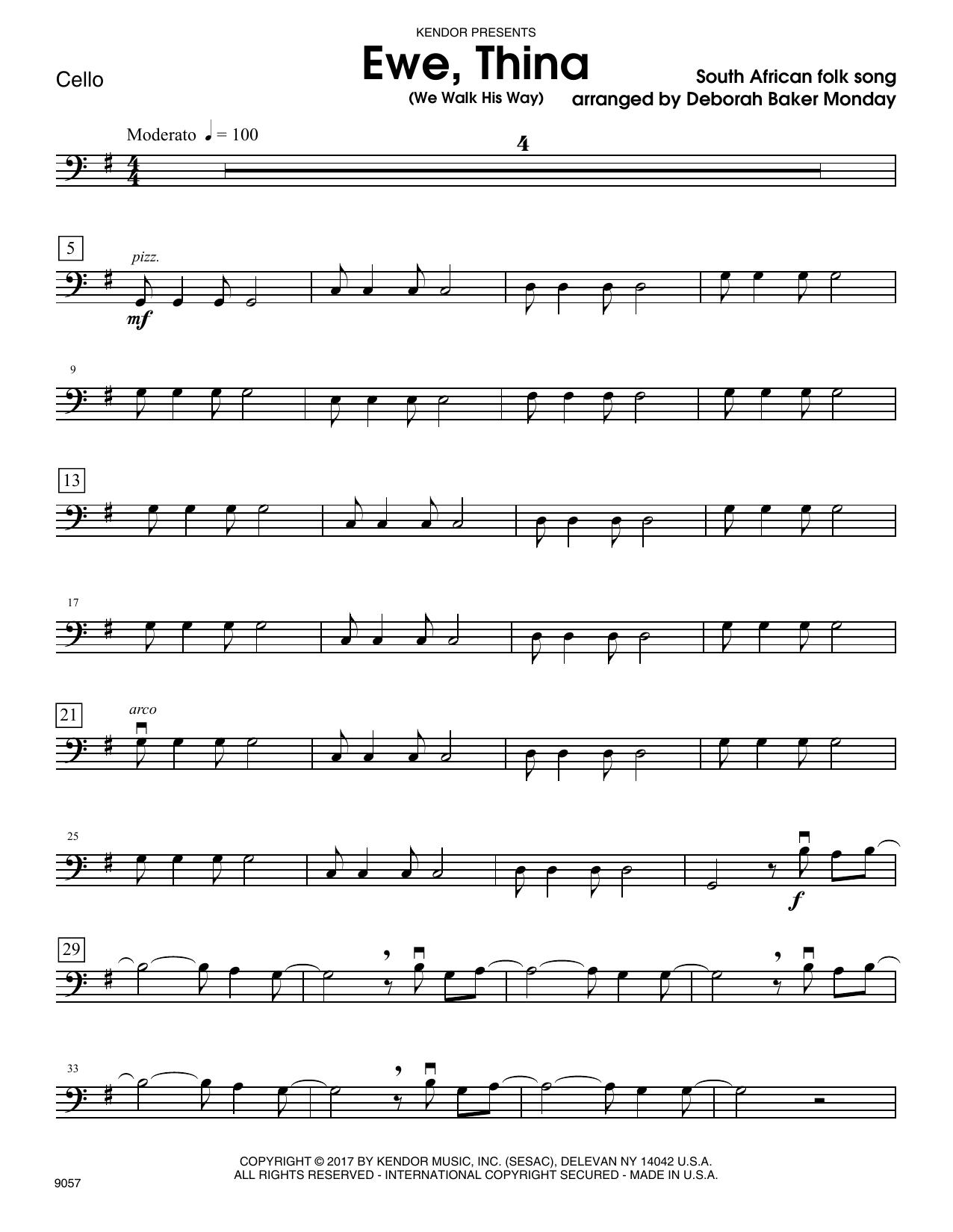 Ewe, Thina (We Walk His Way) - Cello