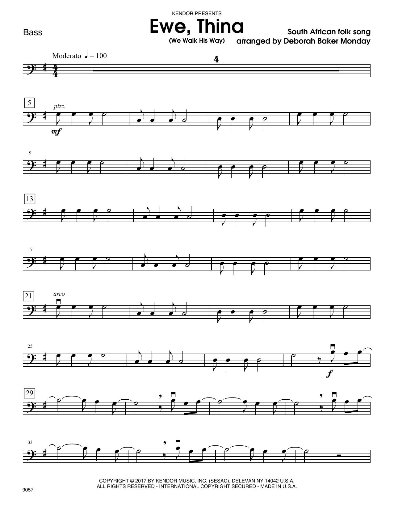 Ewe, Thina (We Walk His Way) - Bass