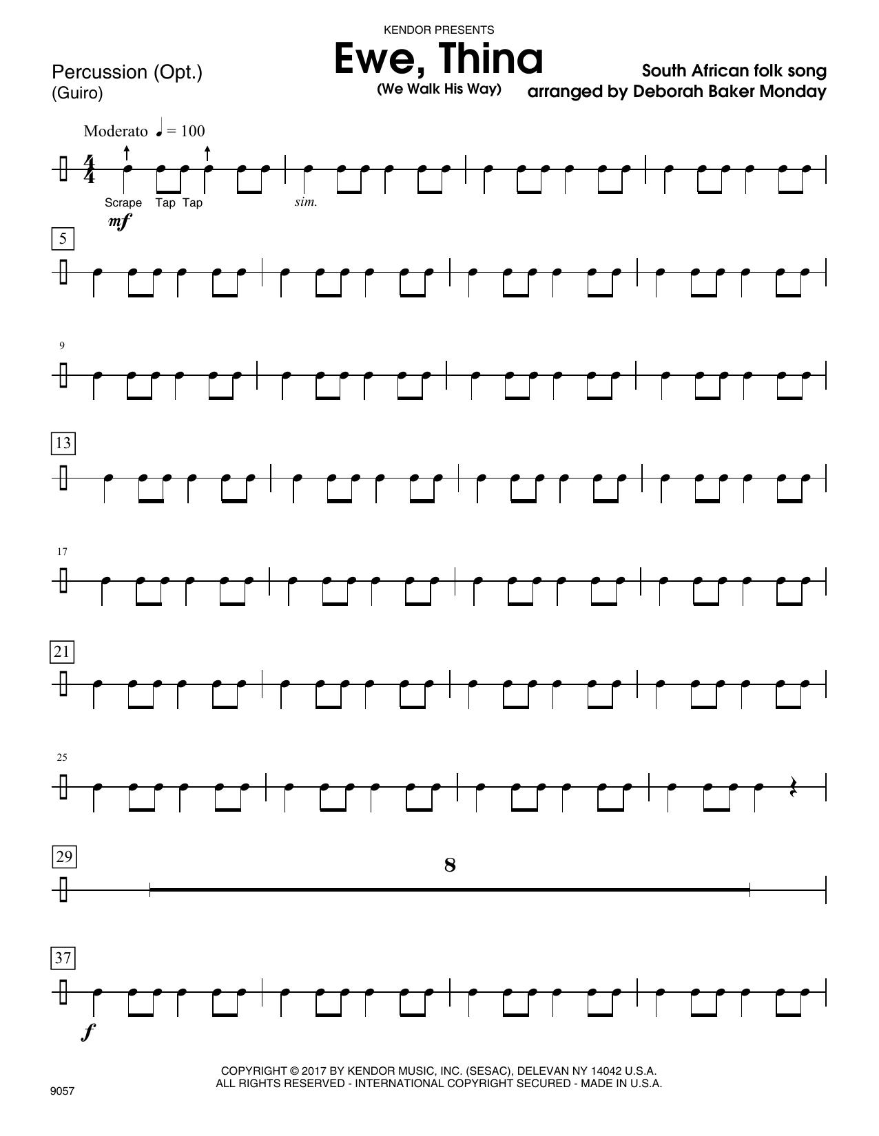 Ewe, Thina (We Walk His Way) - Percussion