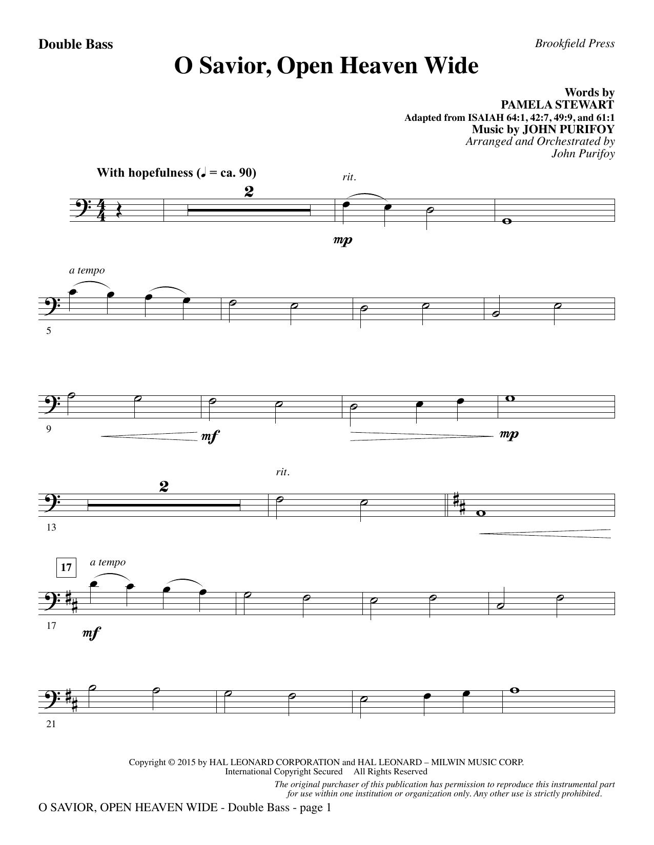 O Savior, Open Heaven Wide - Double Bass