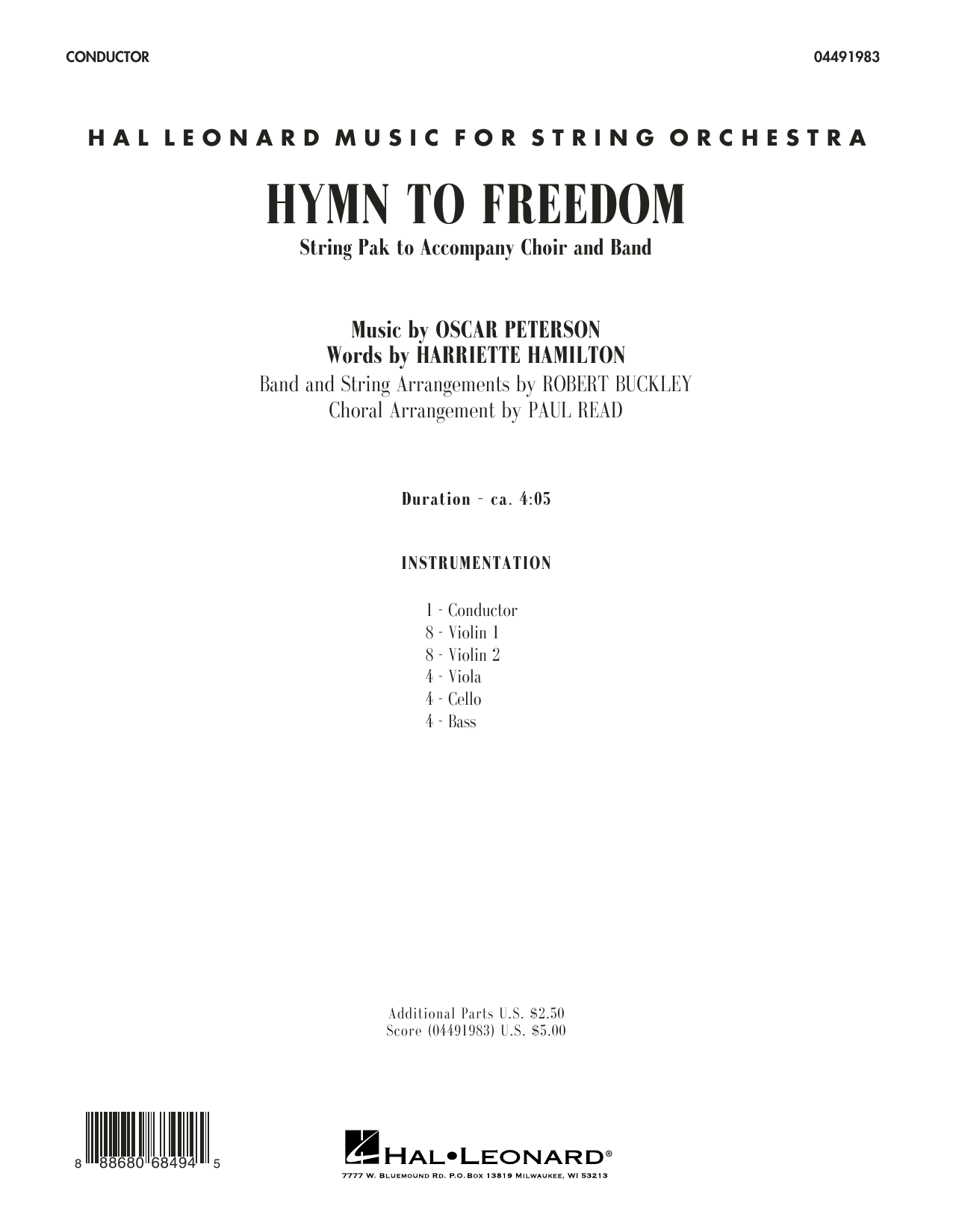 Paul Read - Hymn to Freedom - Conductor Score (Full Score)