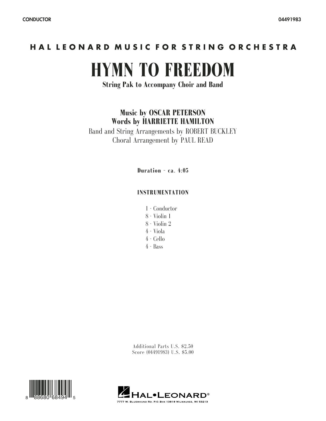 Paul Read - Hymn to Freedom - Conductor Score (Full Score)