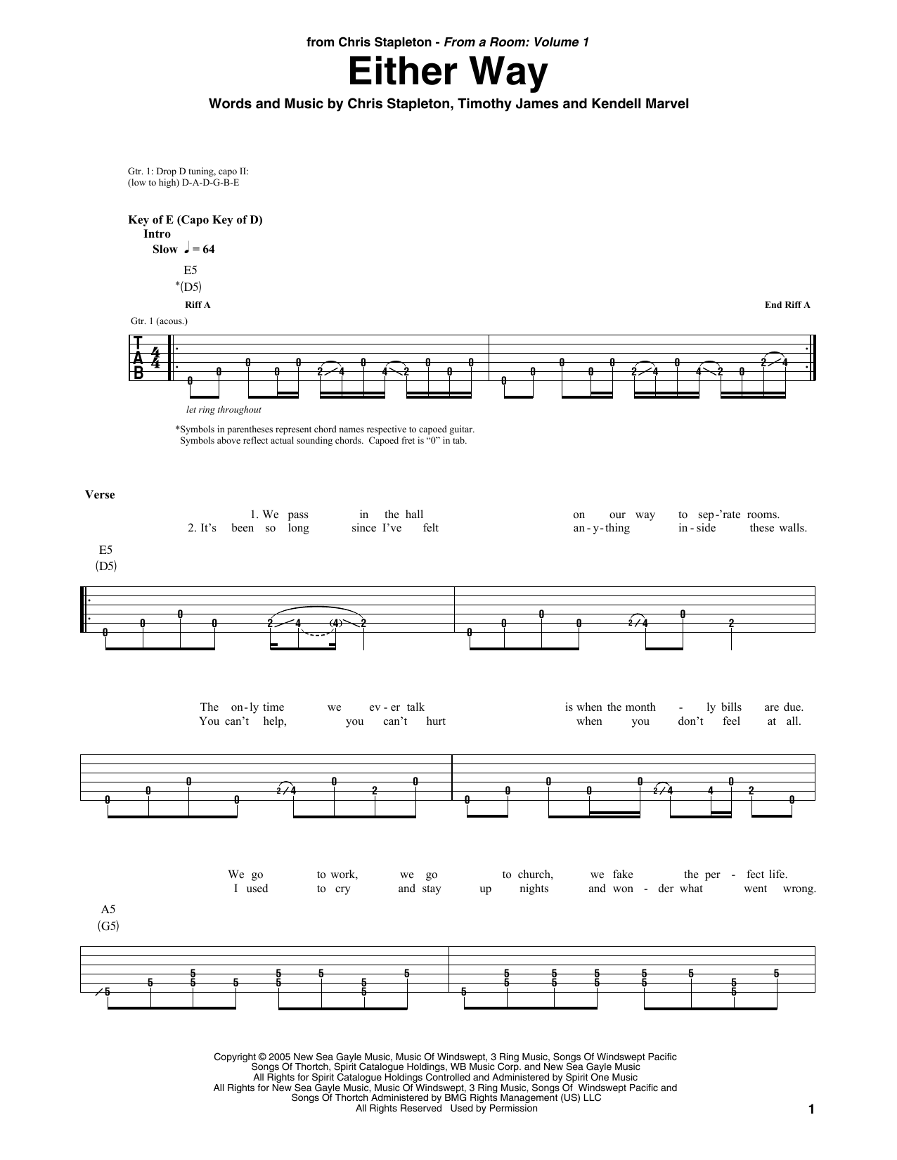 Sheet music digital files to print licensed chris stapleton either way hexwebz Images