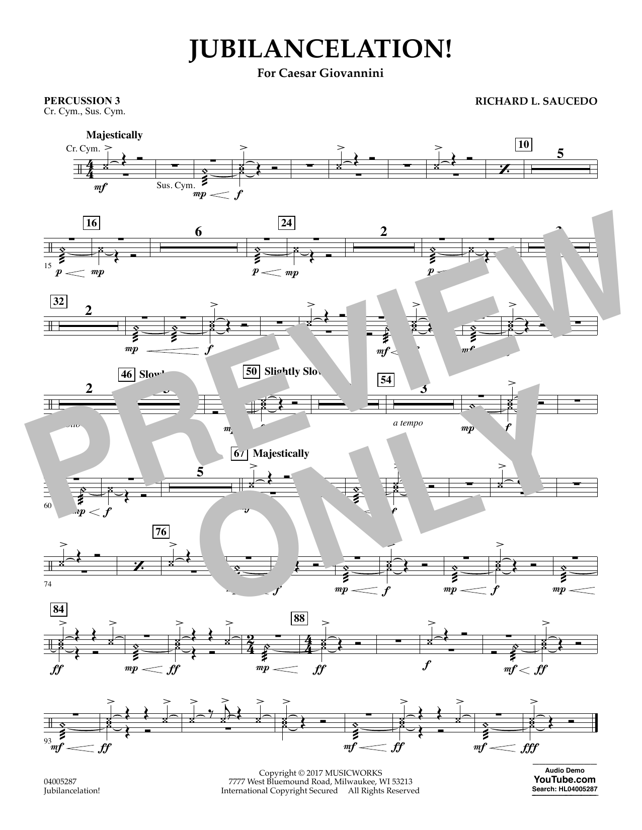 Jubilancelation! - Percussion 3