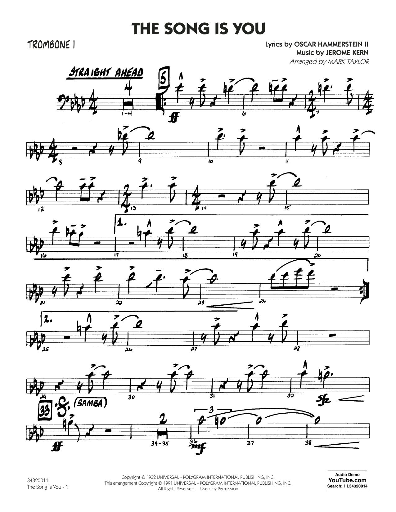 Oscar Hammerstein II - The Song Is You - Trombone 1