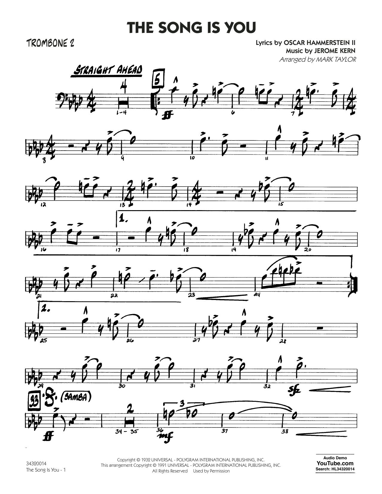 Oscar Hammerstein II - The Song Is You - Trombone 2