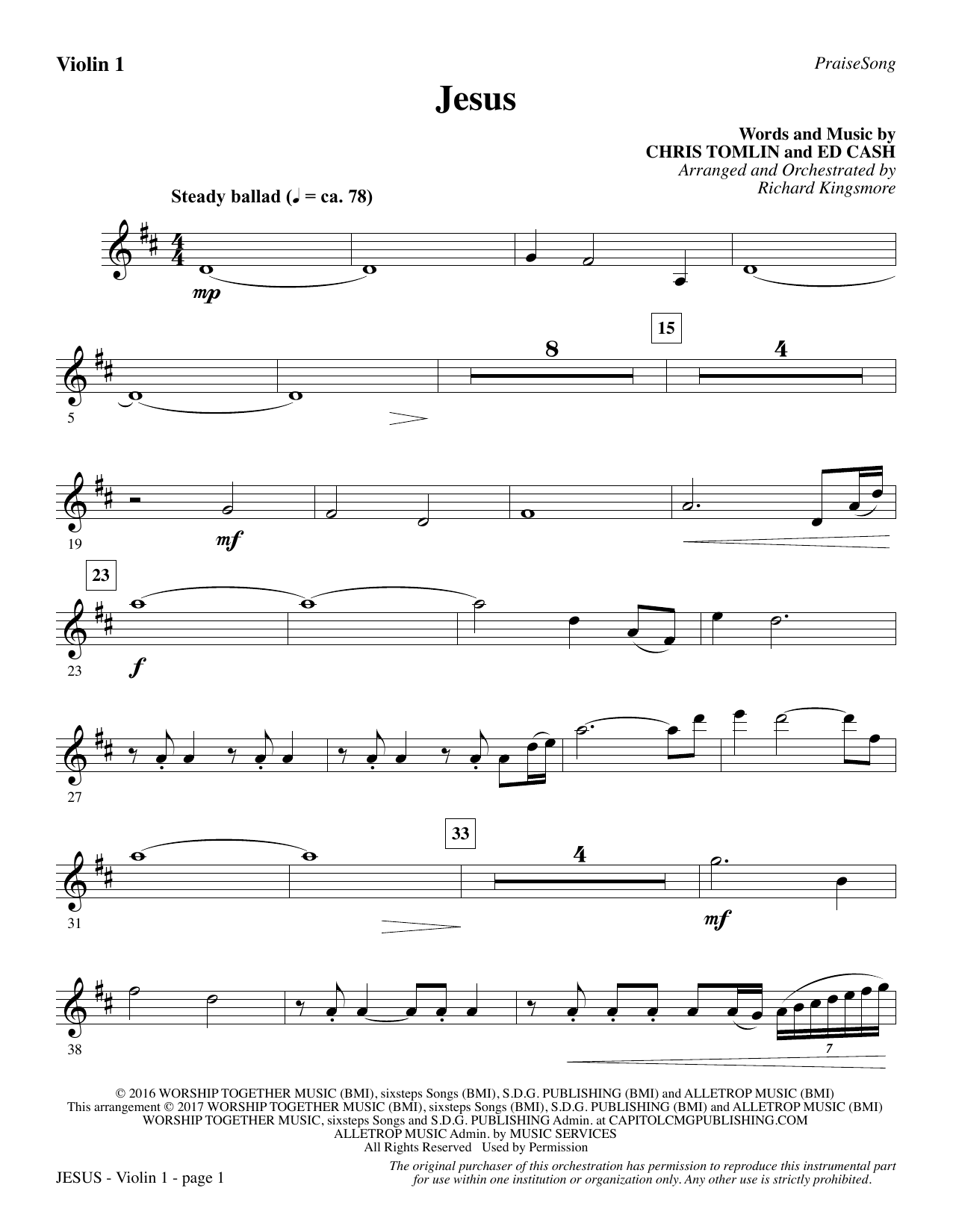 Jesus - Violin 1