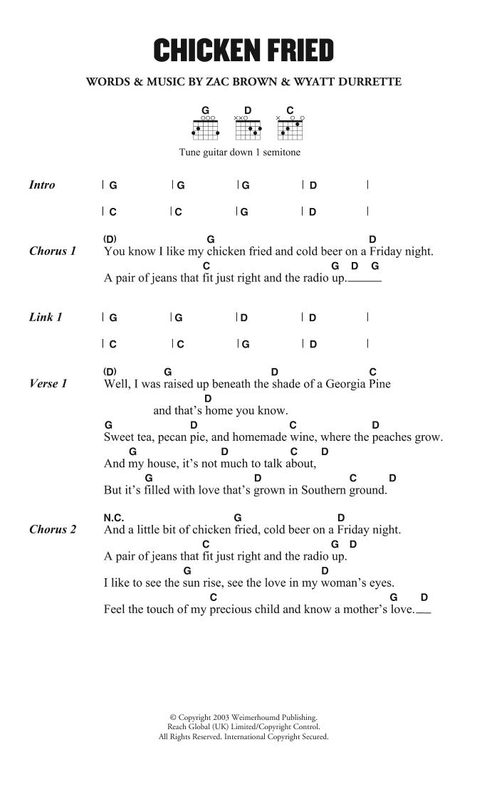 Sheet Music Digital Files To Print - Licensed Zac Brown Band Digital ...