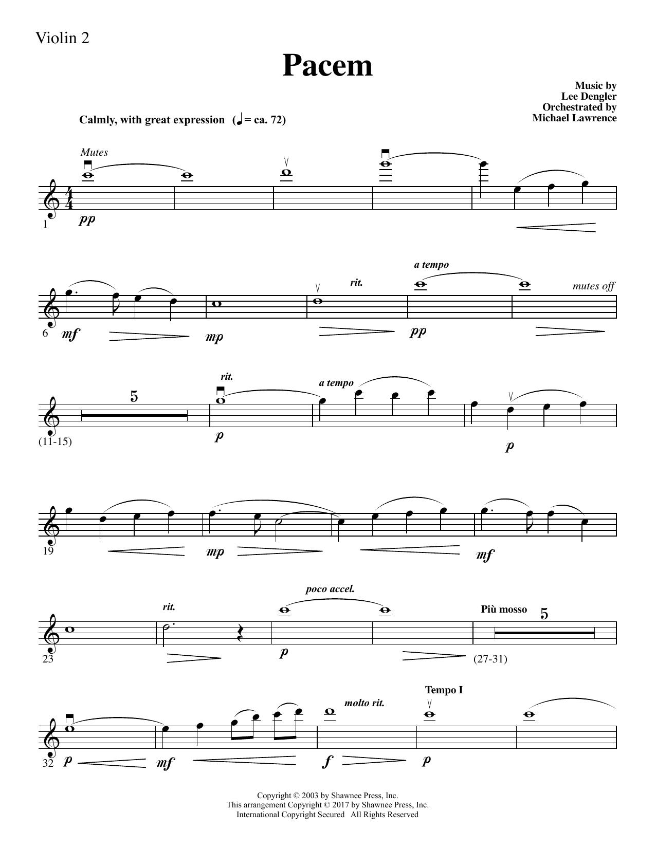 Pacem - Violin 2