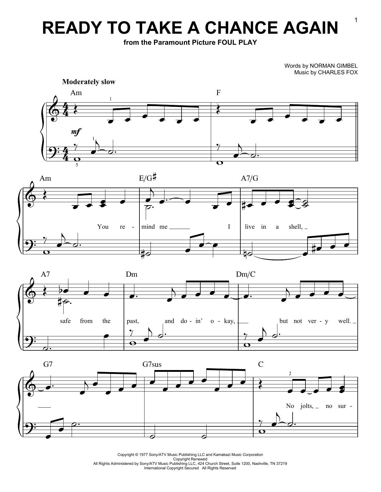 reckless love piano sheet music