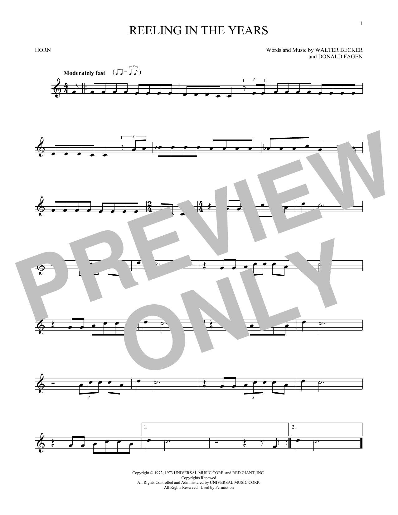 Sheet music digital files to print licensed donald fagen digital reeling in the years hexwebz Images