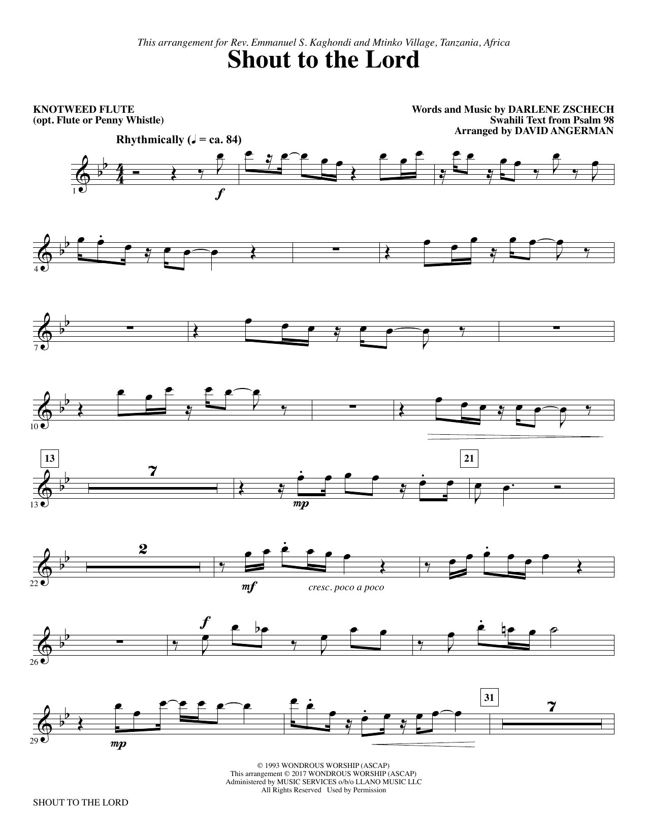 Shout to the lord knotweed flute opt flute sheet music at shout to the lord knotweed flute opt flute hexwebz Gallery