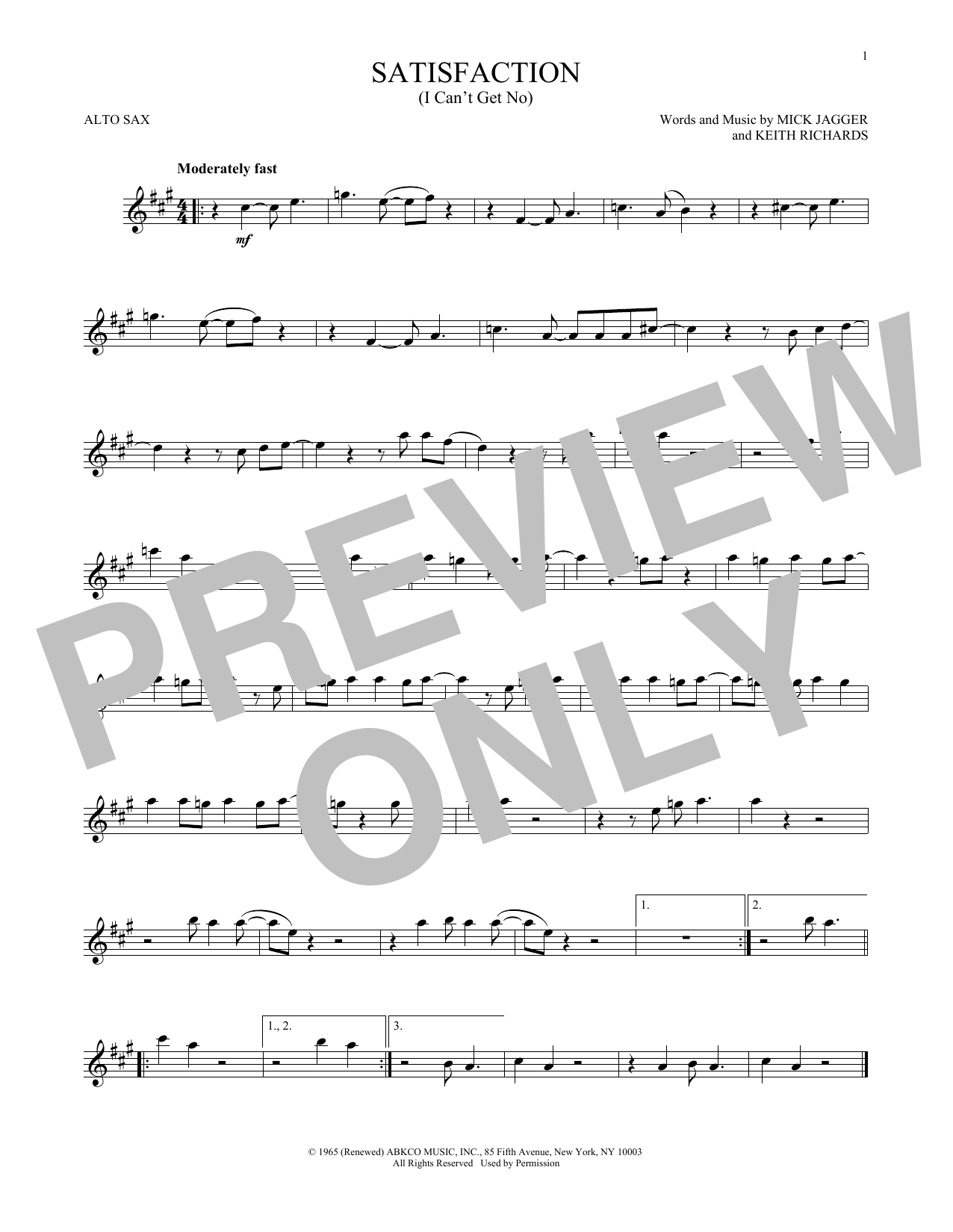 Sheet music digital files to print licensed the rolling stones i cant get no satisfaction hexwebz Choice Image