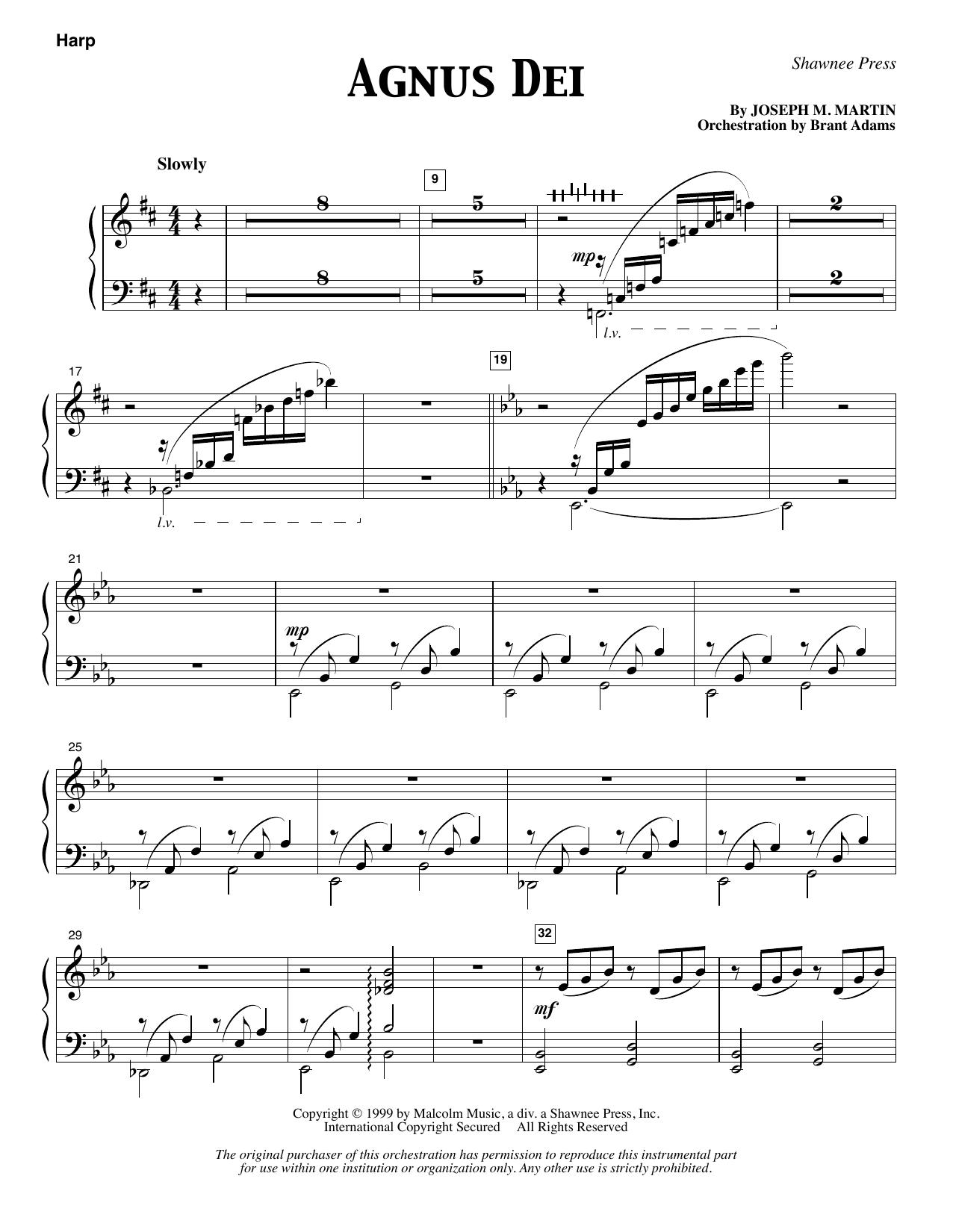 Agnus Dei Harp At Stantons Sheet Music